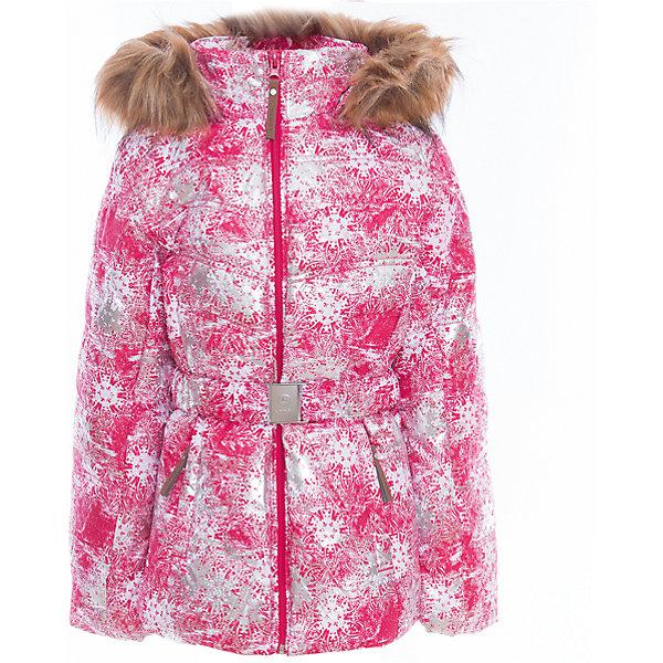 Куртка для девочки LuhtaОдежда<br>Куртка для девочки от известного бренда Luhta.<br>Куртка на поясе с отстегивающимся капюшоном, искусственный мех, принт, элегантный силуэт, боковые карманы на молнии, рукава заканчиваются эластичной резинкой, светоотражающие элементы, утепление 280 гр., искусственный утеплитель Finnwad, мембрана 2000/2000, рекомендуемый температурный режим до -30 град., термометр, показывающий температуру внутри верхней одежды.<br>Технологии: Luhta WATER REPELLENT, Luhta BREATHABLE, 2000/2000, Luhta SAFETY, Luhta TEMPERATURE CONTROL, Luhta FINNWAD, Luhta -30, Reflectors<br>Состав:<br>100% полиэстер<br><br>Параметры изделия: <br>• Длина внутреннего шва рукава: 47 см<br>• Длина внешнего шва рукава: 61 см <br>• Длина спинки: 65 см<br>• Ширина от плеча до плеча: 38 см<br>• Ширина спинки от подмышки до подмышки: 51  см<br>Ширина мм: 356; Глубина мм: 10; Высота мм: 245; Вес г: 519; Цвет: красный; Возраст от месяцев: 144; Возраст до месяцев: 156; Пол: Женский; Возраст: Детский; Размер: 152,146,140,158,134,164; SKU: 5413904;