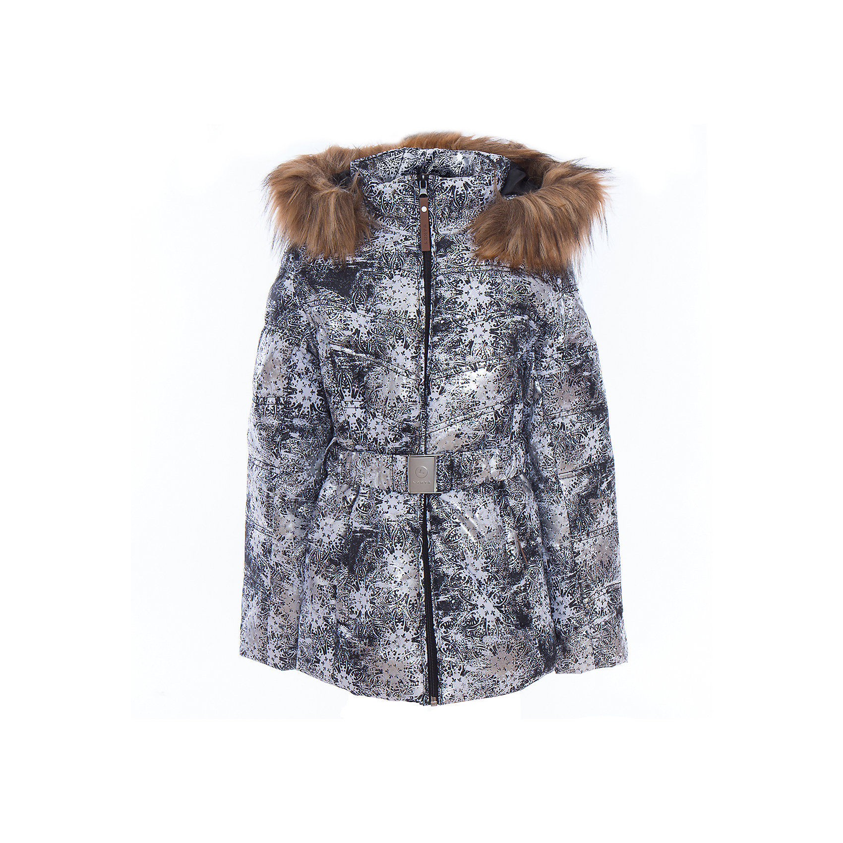 Куртка для девочки LuhtaОдежда<br>Куртка для девочки от известного бренда Luhta.<br>Куртка на поясе с отстегивающимся капюшоном, искусственный мех, принт, элегантный силуэт, боковые карманы на молнии, рукава заканчиваются эластичной резинкой, светоотражающие элементы, утепление 280 гр., искусственный утеплитель Finnwad, мембрана 2000/2000, рекомендуемый температурный режим до -30 град., термометр, показывающий температуру внутри верхней одежды.<br>Технологии: Luhta WATER REPELLENT, Luhta BREATHABLE, 2000/2000, Luhta SAFETY, Luhta TEMPERATURE CONTROL, Luhta FINNWAD, Luhta -30, Reflectors<br>Состав:<br>100% полиэстер<br><br>Ширина мм: 356<br>Глубина мм: 10<br>Высота мм: 245<br>Вес г: 519<br>Цвет: серый<br>Возраст от месяцев: 84<br>Возраст до месяцев: 96<br>Пол: Женский<br>Возраст: Детский<br>Размер: 128,164,158,152,146,140,134<br>SKU: 5413911