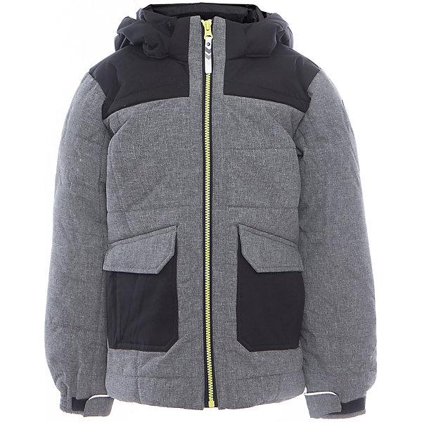 Куртка для мальчика ICEPEAKОдежда<br>Куртка для мальчика от известного бренда ICEPEAK.<br>Куртка с отстегивающимся капюшоном, материал куртки состоит из двух типов ткани: карманы и плечевая часть и капюшон -однотонная ткань, остальная часть куртки -ткань меланж, сформированный локоть, утяжка в нижней части куртки, регулируемый манжет на липучке, карман в левой части куртки на молнии, утепленные и мягкие боковые карманы на молнии, мягкий и теплый внутренний воротник, светоотражающие элементы, искусственный утеплитель Finnwad, утепление 220/220 гр., рекомендуемый температурный режим до -30 град.,Icetech 3 000/3000, 2-layer, Children's safety, Reflectors<br>Состав:<br>100% полиэстер<br><br>Ширина мм: 356<br>Глубина мм: 10<br>Высота мм: 245<br>Вес г: 519<br>Цвет: серый<br>Возраст от месяцев: 84<br>Возраст до месяцев: 96<br>Пол: Мужской<br>Возраст: Детский<br>Размер: 128,176,140,164<br>SKU: 5413931