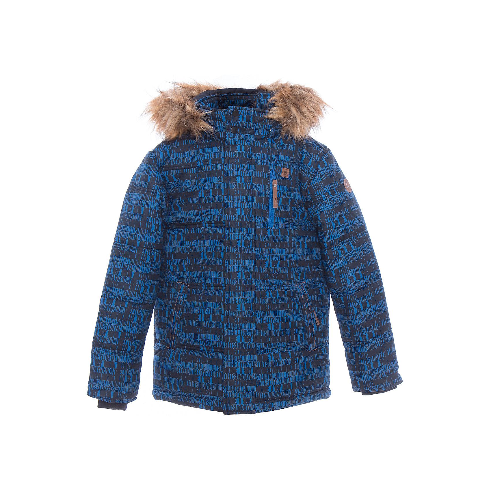 Куртка для мальчика LuhtaОдежда<br>Куртка для мальчика от известного бренда Luhta.<br>Куртка с отстегивающимся капюшоном, искусственный мех, принт, в рукавах вязанные манжеты, утяжка в нижней части куртки, теплые карманы на молнии, светоотражающие элементы, утепление 280 гр. рекомендуемый температурный режим до -30 град., термометр, показывающий температуру внутри верхней одежды.<br>Технологии: Luhta WATER REPELLENT; Luhta BREATHABLE; 2000/2000; Luhta DIRT REPELLENT; Luhta SAFETY; Luhta FINNWAD; Luhta -30<br>Состав:<br>100% полиэстер<br><br>Ширина мм: 356<br>Глубина мм: 10<br>Высота мм: 245<br>Вес г: 519<br>Цвет: синий<br>Возраст от месяцев: 156<br>Возраст до месяцев: 168<br>Пол: Мужской<br>Возраст: Детский<br>Размер: 164,140,146,152,158<br>SKU: 5413947