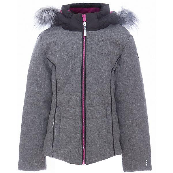 Куртка для девочки ICEPEAKОдежда<br>Куртка для девочки от известного бренда ICEPEAK.<br>Куртка с отстегивающимся капюшоном, приталенный силуэт, капюшон с искусственным мехом, молния закрыта планкой с внутренней стороны, контрастная молния, сформированный локоть, утяжка в нижней части куртки, утепленные и мягкие боковые карманы на молнии, искусственный утеплитель Finnwad, утепление 220/180 гр., рекомендуемый температурный режим до -30 град.,Icetech 3 000/3000, Children's safety, Reflectors<br>Состав:<br>100% полиэстер<br><br>Ширина мм: 356<br>Глубина мм: 10<br>Высота мм: 245<br>Вес г: 519<br>Цвет: серый<br>Возраст от месяцев: 180<br>Возраст до месяцев: 192<br>Пол: Женский<br>Возраст: Детский<br>Размер: 176,128,140,152,164<br>SKU: 5413953