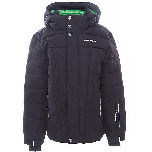 Куртка для мальчика ICEPEAKОдежда<br>Куртка для мальчика от известного бренда ICEPEAK.<br>Куртка с отстегивающимся капюшоном, молния закрыта планкой, сформированный локоть, утяжка в нижней части куртки, снегозащитная юбка, регулируемый манжет на липучке, эластичный внутренний манжет с прорезью для пальца, утепленные и мягкие боковые карманы на молнии, карман для ski pass, мягкий и теплый внутренний воротник, светоотражающие элементы, утеплитель искусственный пух Finnwad, утепление 190/110 гр., рекомендуемый температурный режим до -25 град.,Icetech 10 000mm/5000 g, Super soft touch, Children's safety, Reflectors<br>Состав:<br>100% полиэстер<br><br>Ширина мм: 356<br>Глубина мм: 10<br>Высота мм: 245<br>Вес г: 519<br>Цвет: черный<br>Возраст от месяцев: 84<br>Возраст до месяцев: 96<br>Пол: Мужской<br>Возраст: Детский<br>Размер: 128,176,164,152,140<br>SKU: 5413983