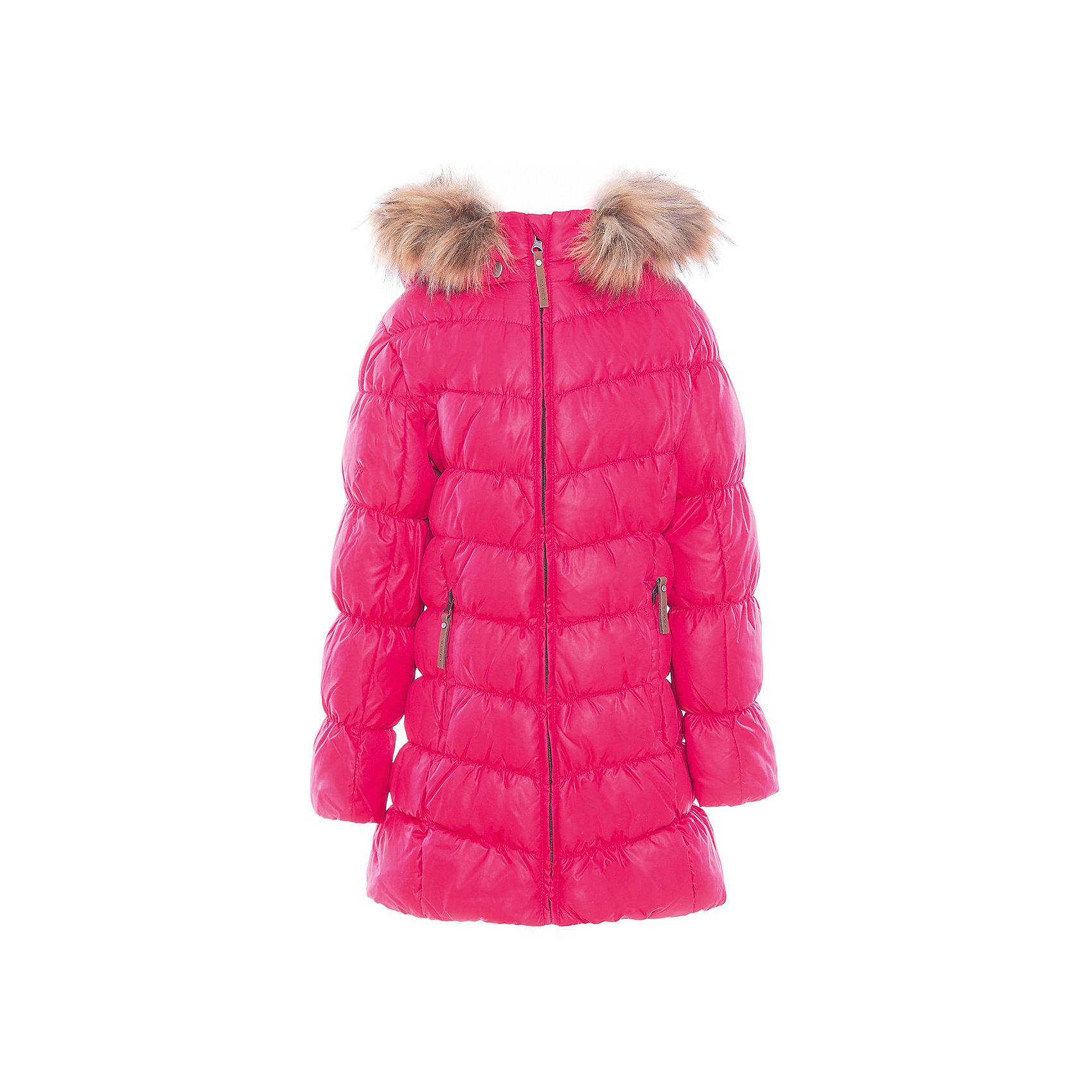 Пальто для девочки LuhtaОдежда<br>Пальто для девочки от известного бренда Luhta.<br>Пальто с отстегивающимся капюшоном, искусственный мех, элегантный силуэт, декоративная прострочка, боковые карманы на молнии, утепление 280 гр. Рекомендуемый температурный режим до -30 град. Внутри пальто находится температурный датчик.<br>Технологии: Luhta WATER REPELLENT; Luhta SAFETY; Luhta TEMPERATURE CONTROL; Luhta DOWN MIX; Luhta -30; Reflectors<br>Состав:<br>100% полиэстер<br><br>Ширина мм: 356<br>Глубина мм: 10<br>Высота мм: 245<br>Вес г: 519<br>Цвет: розовый<br>Возраст от месяцев: 156<br>Возраст до месяцев: 168<br>Пол: Женский<br>Возраст: Детский<br>Размер: 164,134,140,146,152,158<br>SKU: 5414035