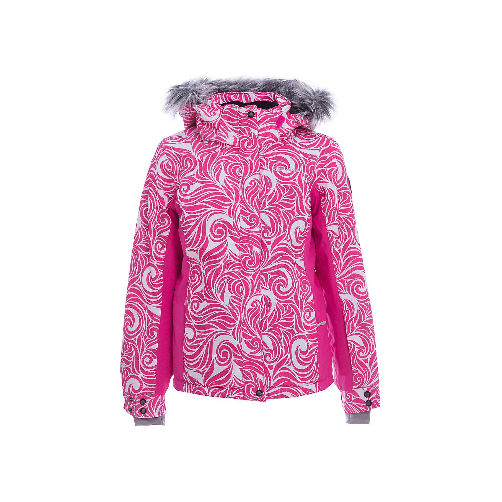 Куртка для девочки ICEPEAKОдежда<br>Куртка для девочки от известного бренда ICEPEAK.<br>Куртка с отстегивающимся капюшоном, принт, капюшон с искусственным мехом, принт, ткань стрейч, молния закрыта планкой, сформированный локоть, утяжка в нижней части куртки, снегозащитная юбка, эластичный внутренний манжет с прорезью для пальца, регулируемый рукав на кнопках, утепленные и мягкие боковые карманы на молнии, мягкий и теплый внутренний воротник, карман для ski pass на рукаве, светоотражающие элементы, искусственный утеплитель Finnwad, утепление 160/140 гр., рекомендуемый температурный режим до -25 град.<br>Технологии:Icetech 5 000, 2-layer, 2-way stretch, Full Taped seams, Children's safety, Reflectors<br>Состав:<br>100% полиэстер<br><br>Ширина мм: 356<br>Глубина мм: 10<br>Высота мм: 245<br>Вес г: 519<br>Цвет: красный<br>Возраст от месяцев: 180<br>Возраст до месяцев: 192<br>Пол: Женский<br>Возраст: Детский<br>Размер: 176,128,140,152,164<br>SKU: 5414042
