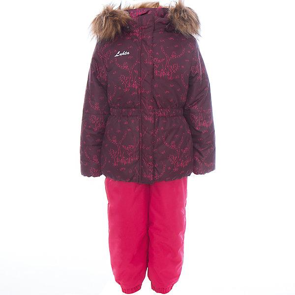 Комплект: куртка и полукомбинезон для девочки LuhtaОдежда<br>Комплект: куртка и полукомбинезон для девочки от известного бренда Luhta.<br>Куртка с отстегивающимся капюшоном, принт, молния закрыта планкой , эластичная резинка на рукавах и в нижней части куртки, светоотражающие элементы, утепление 240 гр. Полукомбинезон на молнии с регулируемыми лямками, эластичная утяжка по талии, регулируемые штрипки для ботинка, утепление 160 гр. Рекомендуемый температурный режим до -30 град. Внутри куртки находится температурный датчик.<br>Технологии: Luhta WATER REPELLENT, Luhta BREATHABLE, 2000/2000, Luhta DIRT REPELLENT, Luhta TEMPERATURE CONTROL, Luhta SAFETY, Luhta FINNWAD, Luhta -30<br>Состав:<br>100% полиэстер<br>Ширина мм: 356; Глубина мм: 10; Высота мм: 245; Вес г: 519; Цвет: красный; Возраст от месяцев: 24; Возраст до месяцев: 36; Пол: Женский; Возраст: Детский; Размер: 98,104,110,116,122,128,92; SKU: 5414048;