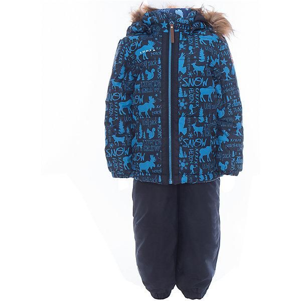 Комплект: куртка и полукомбинезон для мальчика LuhtaОдежда<br>Комплект: куртка и полукомбинезон для мальчика от известного бренда Luhta.<br>Куртка с отстегивающимся капюшоном, принт, молния закрыта планкой , эластичная резинка на рукавах и в нижней части куртки, карманы на кнопке <br>Состав:<br>100% полиэстер<br><br>Ширина мм: 356<br>Глубина мм: 10<br>Высота мм: 245<br>Вес г: 519<br>Цвет: синий<br>Возраст от месяцев: 24<br>Возраст до месяцев: 36<br>Пол: Мужской<br>Возраст: Детский<br>Размер: 98,104,92,128,122,116,110<br>SKU: 5414056