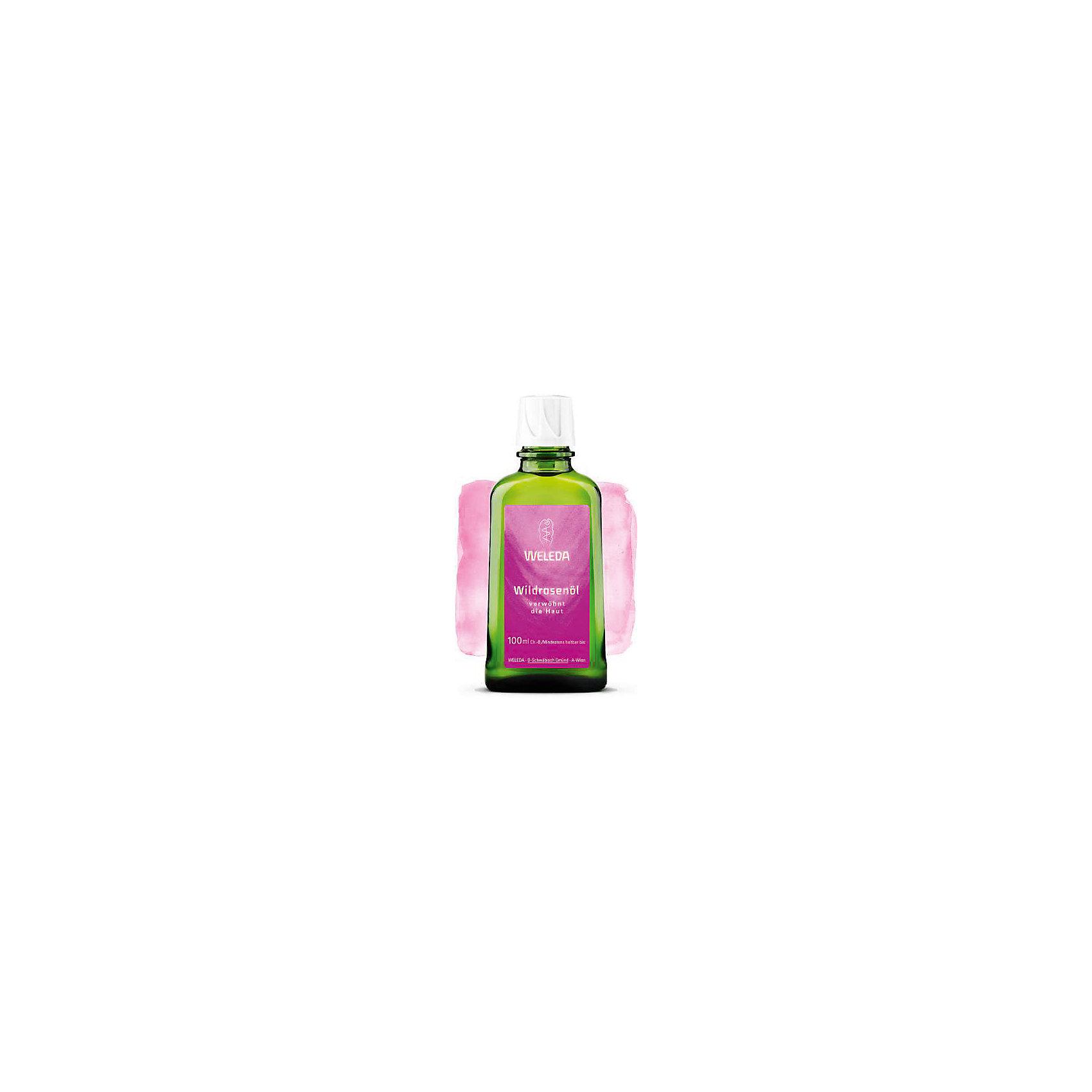 Масло дикой розы 100мл, WeledaМасло, лосьон<br>Масло дикой розы 100мл, Weleda <br><br>Характеристики:<br><br>• объём: 100 мл.<br>• особенности: разглаживает и смягчает<br>• состав: Масла жожоба, миндаля, семян розы москета, дамасской розы ароматическая композиция из натуральных эфирных масел, Лимонен*, Линалоол*, Цитронеллол* Бензиловый спирт, Бензилбензоат, Гераниол*, Цитраль*, Эвгенол*, Фарнезол* (*на основе концентрата натуральных масел)<br>• для мам<br>• страна производитель: Германия<br><br>Более 75 лет швейцарская компания натуральной косметики Weleda (Веледа) заботится о малышах, будущих мамах и природе. Масло розы Weleda (Веледа) – это чистая, натуральная формула, которая смягчает клетки кожи и активизирует их работу, разглаживая кожу и делая ее более упругой. Средства с розой лидируют в категории ухода и контроля появления первых признаков старения, а ароматные эфирные масла придают маслу нежный запах. <br><br>Натуральные компоненты благотворно воздействуют на кожу, подтягивая её при ежедневном использовании. Природные компоненты состава масла не провоцируют аллергию, его формула проверена дерматологами и не провоцирует раздражения. Специальный флакон из непрозрачного стекла сохраняет свойства масла, а углубления на флаконе предотвращают выскальзывание из рук. Флакон оснащен практичным дозатором. Ощутите бережную заботу с серией масел от Weleda (Веледа)!<br><br>Масло дикой розы 100мл, Weleda можно купить в нашем интернет-магазине.<br><br>Ширина мм: 250<br>Глубина мм: 100<br>Высота мм: 250<br>Вес г: 100<br>Возраст от месяцев: 216<br>Возраст до месяцев: 1188<br>Пол: Женский<br>Возраст: Детский<br>SKU: 5414508