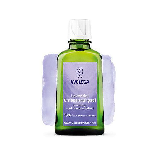 Масло расслабляющее с лавандой 100мл, WeledaДетское масло<br>Масло расслабляющее с лавандой 100мл, Weleda<br><br>Характеристики:<br><br>• объём: 100 мл.<br>• особенности: питает и увлажняет кожу, успокаивает<br>• состав: миндальное масло, кунжутное масло, масло лаванды, ароматическая композиция из натуральных эфирных масел.<br>• для детей и родителей<br>• страна производитель: Германия<br><br>Более 75 лет швейцарская компания натуральной косметики Weleda (Веледа) заботится о малышах, будущих мамах и природе. Специальные компоненты и натуральные масла помогают расслабиться перед сном и восстановить силы. Благодаря успокаивающим свойствам лаванды отлично подходит для массажа, снимает стресс, подходит для малышей. Масло отлично питает кожу, смягчая ее и придавая упругость. <br><br>Природные компоненты состава масла не провоцируют аллергию, его формула проверена дерматологами и не провоцирует раздражения. Специальный флакон из непрозрачного стекла сохраняет свойства масла, а углубления на флаконе предотвращают выскальзывание из рук. Флакон оснащен практичным дозатором. Ощутите бережную заботу с маслом от Weleda (Веледа)!<br><br>Масло расслабляющее с лавандой 100мл, Weleda можно купить в нашем интернет-магазине.<br><br>Ширина мм: 250<br>Глубина мм: 100<br>Высота мм: 250<br>Вес г: 100<br>Возраст от месяцев: 216<br>Возраст до месяцев: 1188<br>Пол: Унисекс<br>Возраст: Детский<br>SKU: 5414514