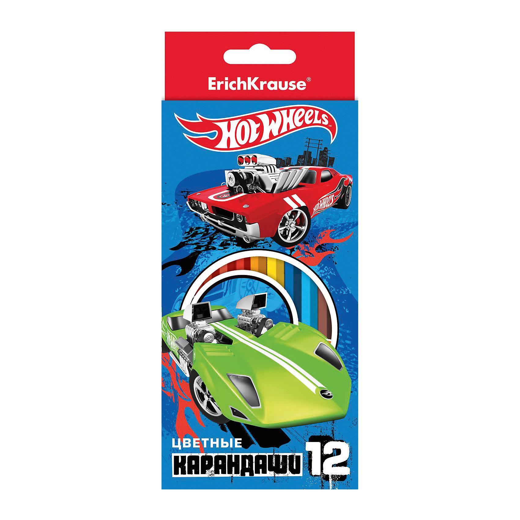 Цветные карандаши шестигранные Hot Wheels Super Car 12 цветовHot Wheels<br>Цветные карандаши шестигранные Hot Wheels Super Car 12 цветов<br><br>Характеристики:<br><br>• В набор входит: 12 цветов<br>• Размер упаковки: 20,5 * 0,8 * 8,8 см.<br>• Вес: 92 г.<br>• Для детей в возрасте: от 3-х лет<br>• Страна производитель: Россия<br><br>Высококачественные шестигранные карандаши ярко рисуют без сильного нажима, их легко точить. Карандаши изготовлены из безопасных и нетоксичных материалов. На коробке изображены машинки от Hot Wheels (Хот Вилс), которые будут вдохновлять ребёнка на новые рисунки. Двенадцать стандартных цветов позволят создать любой шедевр. Рисуя карандашами дети развивают моторику рук, творческие способности, учатся подбирать цветовую гамму и просто отлично проводят время. <br><br>Цветные карандаши шестигранные Hot Wheels Super Car 12 цветов можно купить в нашем интернет-магазине.<br><br>Ширина мм: 88<br>Глубина мм: 204<br>Высота мм: 8<br>Вес г: 92<br>Возраст от месяцев: 60<br>Возраст до месяцев: 216<br>Пол: Мужской<br>Возраст: Детский<br>SKU: 5415410
