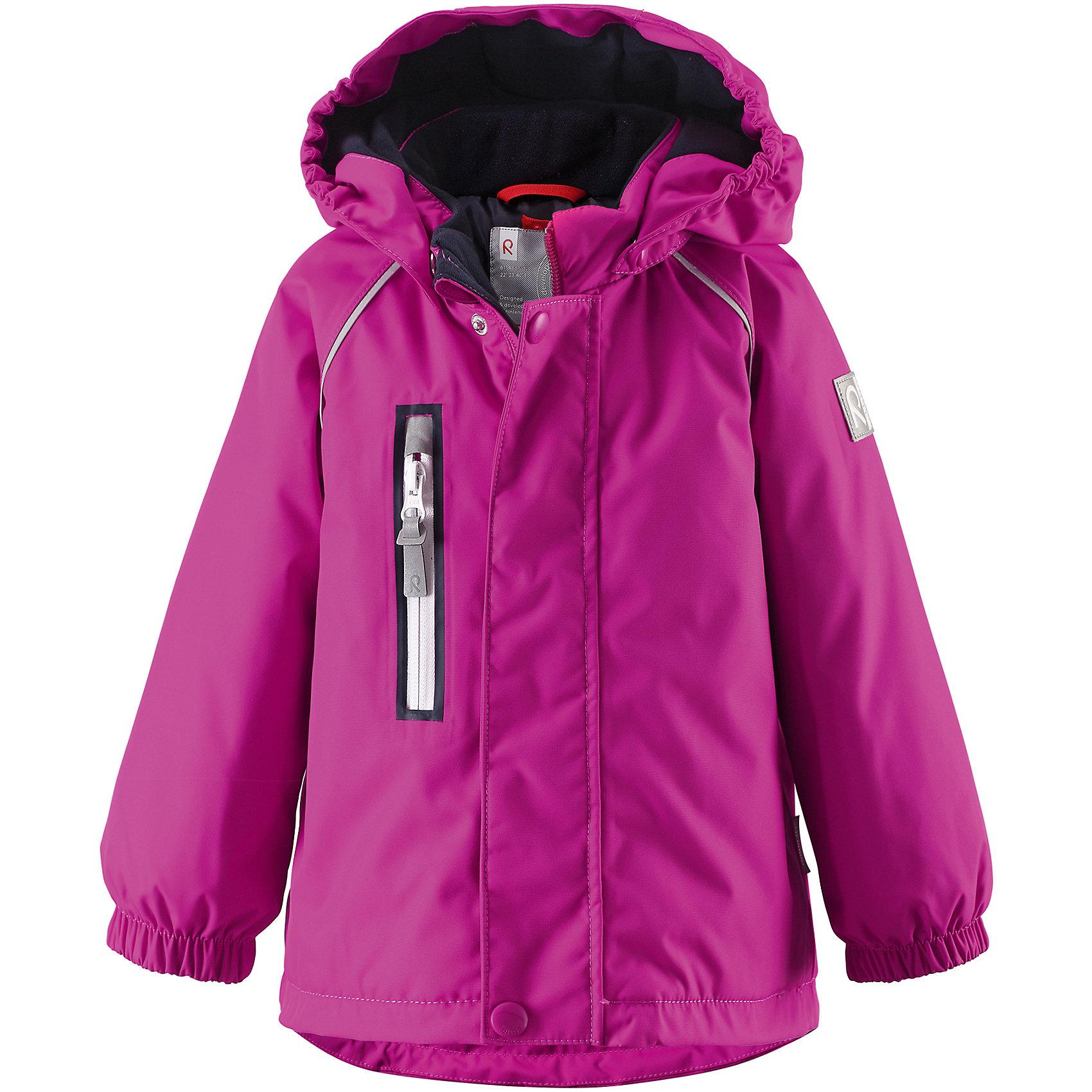 Куртка Pesue для девочки Reimatec® ReimaОдежда<br>Характеристики товара:<br><br>• цвет: фуксия<br>• состав: 100% полиэстер, полиуретановое покрытие<br>• температурный режим: 0° до -20° градусов<br>• утеплитель: Reima Comfort + 160 г<br>• водонепроницаемая мембрана: от 15000 мм<br>• основные швы проклеены<br>• съёмный капюшон<br>• молния<br>• светоотражающие детали<br>• «дышащий» материал<br>• ветро- водо- и грязеотталкивающий материал<br>• кнопки Reima® Play Layers <br>• карманы<br>• комфортная посадка<br>• страна производства: Китай<br>• страна бренда: Финляндия<br><br>Верхняя одежда для детей может быть модной и комфортной одновременно! Эти зимняя куртка поможет обеспечить ребенку комфорт и тепло. Она отлично смотрится с различной одеждой и обувью. Изделие удобно сидит и модно выглядит. Стильный дизайн разрабатывался специально для детей. Отличный вариант для активного отдыха зимой!<br><br>Одежда и обувь от финского бренда Reima пользуется популярностью во многих странах. Эти изделия стильные, качественные и удобные. Для производства продукции используются только безопасные, проверенные материалы и фурнитура. Порадуйте ребенка модными и красивыми вещами от Reima! <br><br>Куртку Pesue для девочки от финского бренда Reimatec® Reima (Рейма) можно купить в нашем интернет-магазине.<br><br>Ширина мм: 356<br>Глубина мм: 10<br>Высота мм: 245<br>Вес г: 519<br>Цвет: розовый<br>Возраст от месяцев: 12<br>Возраст до месяцев: 15<br>Пол: Унисекс<br>Возраст: Детский<br>Размер: 80,92,98,86<br>SKU: 5415430