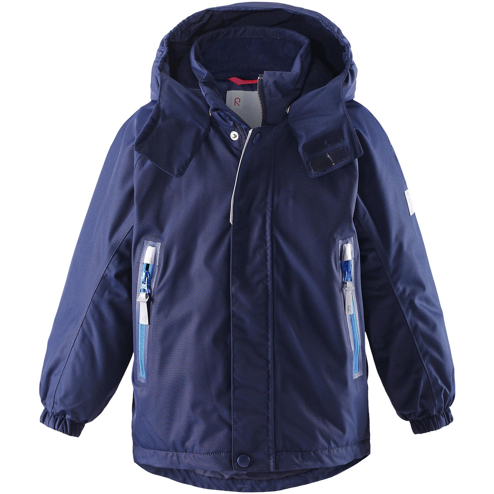 Куртка Chant  Reimatec® ReimaВерхняя одежда<br>Характеристики товара:<br><br>• цвет: синий<br>• состав: 100% полиэстер, полиуретановое покрытие<br>• температурный режим: 0° до -20° градусов<br>• утеплитель: 160 г<br>• водонепроницаемая мембрана: от 15000 мм<br>• основные швы проклеены<br>• съёмный капюшон<br>• молния<br>• светоотражающие детали<br>• «дышащий» материал<br>• ветро- водо- и грязеотталкивающий материал<br>• кнопки Reima® Play Layers <br>• карманы<br>• комфортная посадка<br>• страна производства: Китай<br>• страна бренда: Финляндия<br><br>Верхняя одежда для детей может быть модной и комфортной одновременно! Эти зимняя куртка поможет обеспечить ребенку комфорт и тепло. Она отлично смотрится с различной одеждой и обувью. Изделие удобно сидит и модно выглядит. Стильный дизайн разрабатывался специально для детей. Отличный вариант для активного отдыха зимой!<br><br>Одежда и обувь от финского бренда Reima пользуется популярностью во многих странах. Эти изделия стильные, качественные и удобные. Для производства продукции используются только безопасные, проверенные материалы и фурнитура. Порадуйте ребенка модными и красивыми вещами от Reima! <br><br>Куртку Chant от финского бренда Reimatec® Reima (Рейма) можно купить в нашем интернет-магазине.<br><br>Ширина мм: 356<br>Глубина мм: 10<br>Высота мм: 245<br>Вес г: 519<br>Цвет: синий<br>Возраст от месяцев: 18<br>Возраст до месяцев: 24<br>Пол: Унисекс<br>Возраст: Детский<br>Размер: 92,98<br>SKU: 5415500