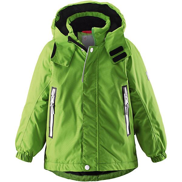 Куртка Chant  Reimatec® ReimaОдежда<br>Характеристики товара:<br><br>• цвет: зеленый<br>• состав: 100% полиэстер, полиуретановое покрытие<br>• температурный режим: 0° до -20° градусов<br>• утеплитель: 160 г<br>• водонепроницаемая мембрана: от 15000 мм<br>• основные швы проклеены<br>• съёмный капюшон<br>• молния<br>• светоотражающие детали<br>• «дышащий» материал<br>• ветро- водо- и грязеотталкивающий материал<br>• кнопки Reima® Play Layers <br>• карманы<br>• комфортная посадка<br>• страна производства: Китай<br>• страна бренда: Финляндия<br><br>Верхняя одежда для детей может быть модной и комфортной одновременно! Эти зимняя куртка поможет обеспечить ребенку комфорт и тепло. Она отлично смотрится с различной одеждой и обувью. Изделие удобно сидит и модно выглядит. Стильный дизайн разрабатывался специально для детей. Отличный вариант для активного отдыха зимой!<br><br>Одежда и обувь от финского бренда Reima пользуется популярностью во многих странах. Эти изделия стильные, качественные и удобные. Для производства продукции используются только безопасные, проверенные материалы и фурнитура. Порадуйте ребенка модными и красивыми вещами от Reima! <br><br>Куртку Chant от финского бренда Reimatec® Reima (Рейма) можно купить в нашем интернет-магазине.<br><br>Ширина мм: 356<br>Глубина мм: 10<br>Высота мм: 245<br>Вес г: 519<br>Цвет: зеленый<br>Возраст от месяцев: 18<br>Возраст до месяцев: 24<br>Пол: Унисекс<br>Возраст: Детский<br>Размер: 92,98<br>SKU: 5415503