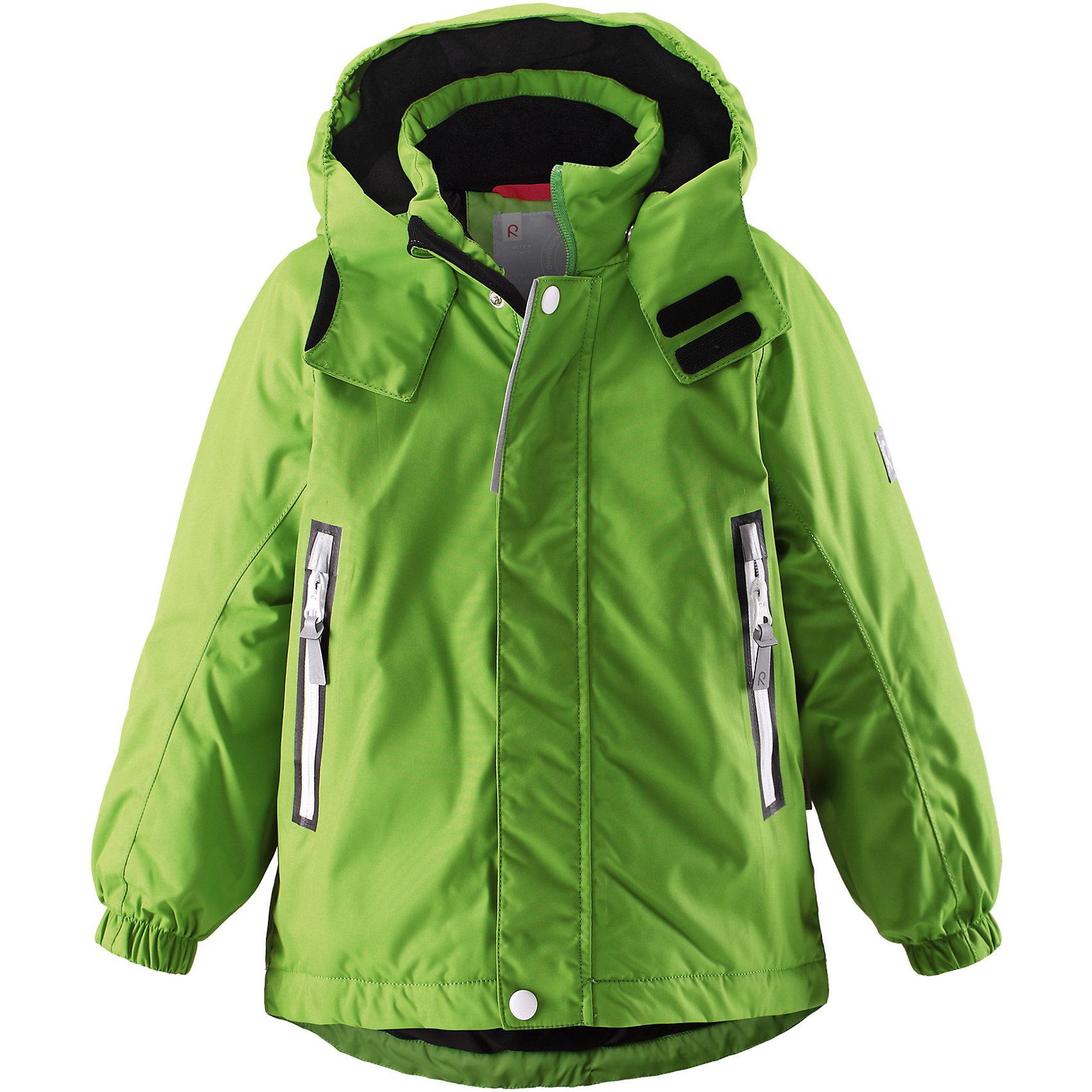 Куртка Chant  Reimatec® ReimaВерхняя одежда<br>Характеристики товара:<br><br>• цвет: зеленый<br>• состав: 100% полиэстер, полиуретановое покрытие<br>• температурный режим: 0° до -20° градусов<br>• утеплитель: 160 г<br>• водонепроницаемая мембрана: от 15000 мм<br>• основные швы проклеены<br>• съёмный капюшон<br>• молния<br>• светоотражающие детали<br>• «дышащий» материал<br>• ветро- водо- и грязеотталкивающий материал<br>• кнопки Reima® Play Layers <br>• карманы<br>• комфортная посадка<br>• страна производства: Китай<br>• страна бренда: Финляндия<br><br>Верхняя одежда для детей может быть модной и комфортной одновременно! Эти зимняя куртка поможет обеспечить ребенку комфорт и тепло. Она отлично смотрится с различной одеждой и обувью. Изделие удобно сидит и модно выглядит. Стильный дизайн разрабатывался специально для детей. Отличный вариант для активного отдыха зимой!<br><br>Одежда и обувь от финского бренда Reima пользуется популярностью во многих странах. Эти изделия стильные, качественные и удобные. Для производства продукции используются только безопасные, проверенные материалы и фурнитура. Порадуйте ребенка модными и красивыми вещами от Reima! <br><br>Куртку Chant от финского бренда Reimatec® Reima (Рейма) можно купить в нашем интернет-магазине.<br><br>Ширина мм: 356<br>Глубина мм: 10<br>Высота мм: 245<br>Вес г: 519<br>Цвет: зеленый<br>Возраст от месяцев: 18<br>Возраст до месяцев: 24<br>Пол: Унисекс<br>Возраст: Детский<br>Размер: 92,98<br>SKU: 5415503