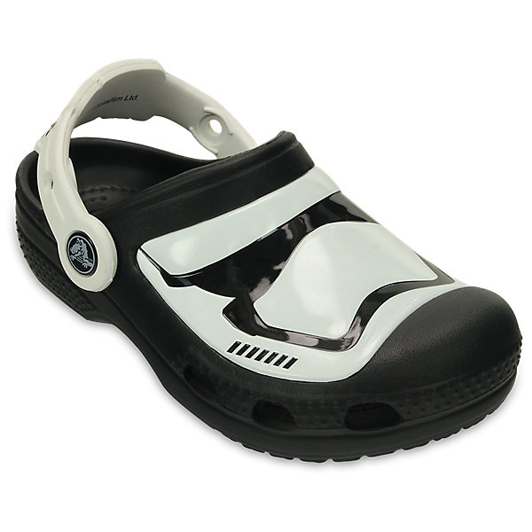 Сабо Kids Star Wars, CROCSПляжная обувь<br>Характеристики товара:<br><br>• цвет: Черный<br>• принт: Звездные войны<br>• сезон: лето<br>• тип: пляжная обувь<br>• материал: 100% полимер Croslite™<br>• под воздействием температуры тела принимают форму стопы<br>• полностью литая модель<br>• вентиляционные отверстия<br>• бактериостатичный материал<br>• пяточный ремешок фиксирует стопу<br>• отверстия для использования украшений<br>• анатомическая стелька с массажными точками<br>• страна бренда: США<br>• страна изготовитель: Китай<br><br>Для правильного развития ребенка крайне важно, чтобы обувь была удобной.<br><br>Такие сабо обеспечивают детям необходимый комфорт, а анатомическая стелька с массажными линиями для стимуляции кровообращения позволяет ножкам дольше не уставать. <br><br>Сабо легко надеваются и снимаются, отлично сидят на ноге. <br><br>Материал, из которого они сделаны, не дает размножаться бактериям, поэтому такая обувь препятствует образованию неприятного запаха и появлению болезней стоп.<br><br>Обувь от американского бренда Crocs в данный момент завоевала широкую популярность во всем мире, и это не удивительно - ведь она невероятно удобна. <br><br>Её носят врачи, спортсмены, звёзды шоу-бизнеса, люди, которым много времени приходится бывать на ногах - они понимают, как важна комфортная обувь. <br><br>Продукция Crocs - это качественные товары, созданные с применением новейших технологий. <br><br>Обувь отличается стильным дизайном и продуманной конструкцией. Изделие производится из качественных и проверенных материалов, которые безопасны для детей.<br><br>Сабо Kids Classic от торговой марки Crocs можно купить в нашем интернет-магазине.<br><br>Ширина мм: 225<br>Глубина мм: 139<br>Высота мм: 112<br>Вес г: 290<br>Цвет: черный<br>Возраст от месяцев: 48<br>Возраст до месяцев: 60<br>Пол: Унисекс<br>Возраст: Детский<br>Размер: 27/28,34/35,29/30,21/22,23/24,25/26,31/32,33/34<br>SKU: 5416335