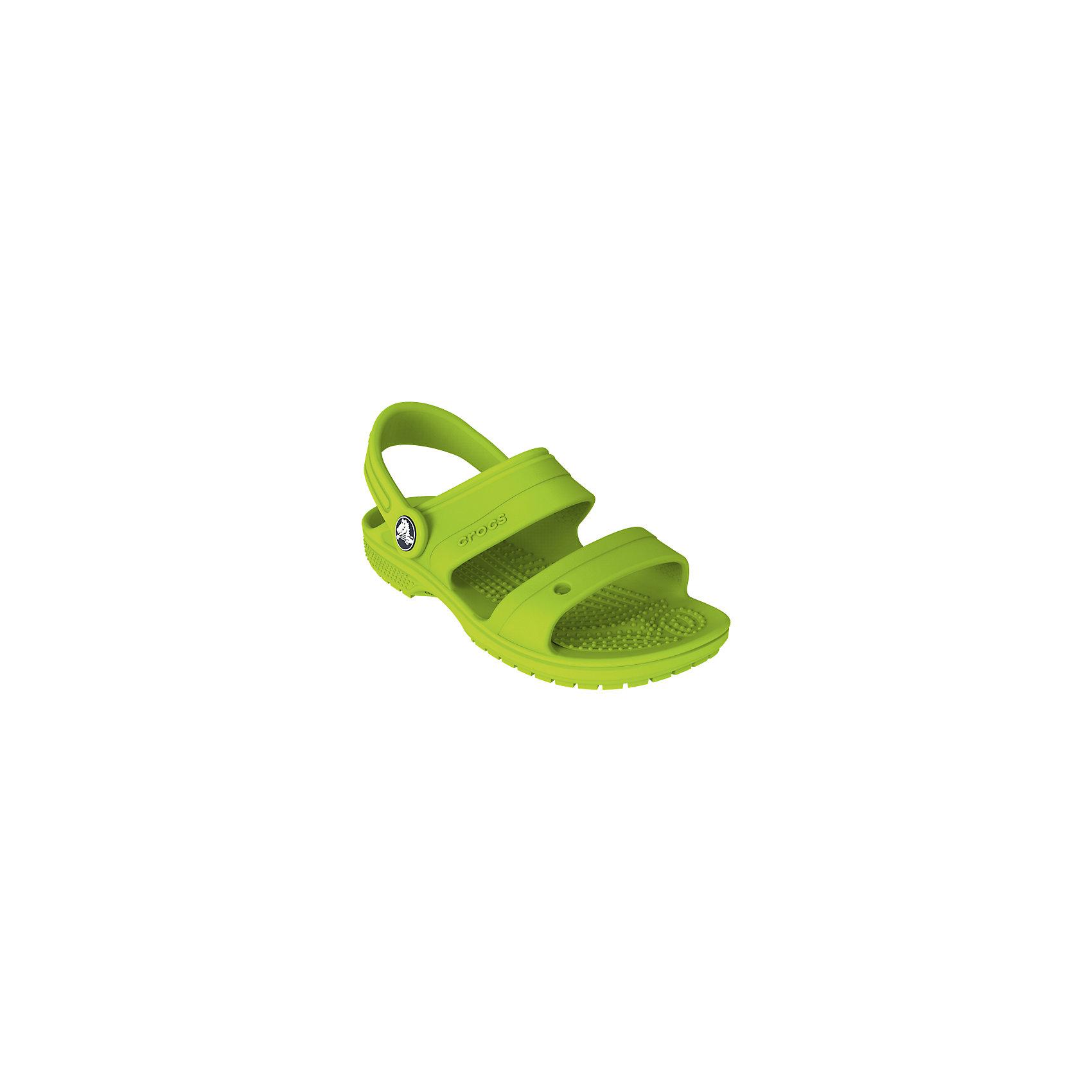 Сандалии с открытым мысом CROCSПляжная обувь<br>Характеристики товара:<br><br>• цвет: салатовый<br>• сезон: лето<br>• материал: 100% полимер Croslite™<br>• бактериостатичный материал<br>• ремешок фиксирует стопу<br>• антискользящая устойчивая подошва<br>• липучка<br>• анатомическая стелька с массажными точками<br>• страна бренда: США<br>• страна изготовитель: Китай<br><br>Для правильного развития ребенка крайне важно, чтобы обувь была удобной.<br><br>Такие сандалии обеспечивают детям необходимый комфорт, а анатомическая стелька с массажными линиями для стимуляции кровообращения позволяет ножкам дольше не уставать. <br><br>Сандалии легко надеваются и снимаются, отлично сидят на ноге. <br><br>Материал, из которого они сделаны, не дает размножаться бактериям, поэтому такая обувь препятствует образованию неприятного запаха и появлению болезней стоп. <br><br>Обувь от американского бренда Crocs в данный момент завоевала широкую популярность во всем мире, и это не удивительно - ведь она невероятно удобна. <br><br>Сандалии открытые от торговой марки Crocs можно купить в нашем интернет-магазине.<br><br>Ширина мм: 219<br>Глубина мм: 154<br>Высота мм: 121<br>Вес г: 343<br>Цвет: зеленый<br>Возраст от месяцев: 132<br>Возраст до месяцев: 144<br>Пол: Унисекс<br>Возраст: Детский<br>Размер: 34/35,27,28,29,30,23,24,25,26,31/32,33/34<br>SKU: 5416442