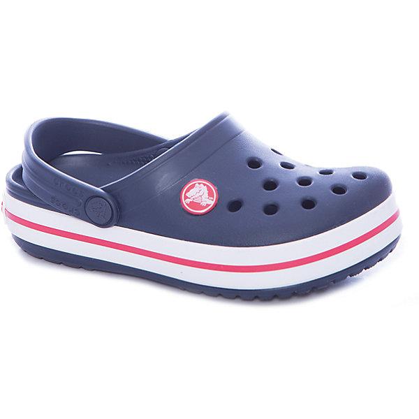 Сабо Crocband™ clog, синийПляжная обувь<br>Характеристики товара:<br><br>• цвет: синий<br>• материал: 100% полимер Croslite™<br>• литая модель<br>• вентиляционные отверстия<br>• бактериостатичный материал<br>• пяточный ремешок фиксирует стопу<br>• толстая устойчивая подошва<br>• отверстия для использования украшений<br>• анатомическая стелька с массажными точками стимулирует кровообращение<br>• страна бренда: США<br>• страна изготовитель: Китай<br><br>Для правильного развития ребенка крайне важно, чтобы обувь была удобной. <br><br>Такие сабо обеспечивают детям необходимый комфорт, а анатомическая стелька с массажными линиями для стимуляции кровообращения позволяет ножкам дольше не уставать. <br><br>Сабо легко надеваются и снимаются, отлично сидят на ноге. <br><br>Материал, из которого они сделаны, не дает размножаться бактериям, поэтому такая обувь препятствует образованию неприятного запаха и появлению болезней стоп.<br><br>Обувь от американского бренда Crocs в данный момент завоевала широкую популярность во всем мире, и это не удивительно - ведь она невероятно удобна. <br><br>Её носят врачи, спортсмены, звёзды шоу-бизнеса, люди, которым много времени приходится бывать на ногах - они понимают, как важна комфортная обувь. <br><br>Продукция Crocs - это качественные товары, созданные с применением новейших технологий. <br><br>Обувь отличается стильным дизайном и продуманной конструкцией. <br><br>Изделие производится из качественных и проверенных материалов, которые безопасны для детей.<br><br>Сабо Crocband™ clog от торговой марки Crocs можно купить в нашем интернет-магазине.<br>Ширина мм: 225; Глубина мм: 139; Высота мм: 112; Вес г: 290; Цвет: синий; Возраст от месяцев: 36; Возраст до месяцев: 48; Пол: Унисекс; Возраст: Детский; Размер: 27,34/35,33/34,31/32,26,25,24,23,22,21,30,29,28; SKU: 5416468;
