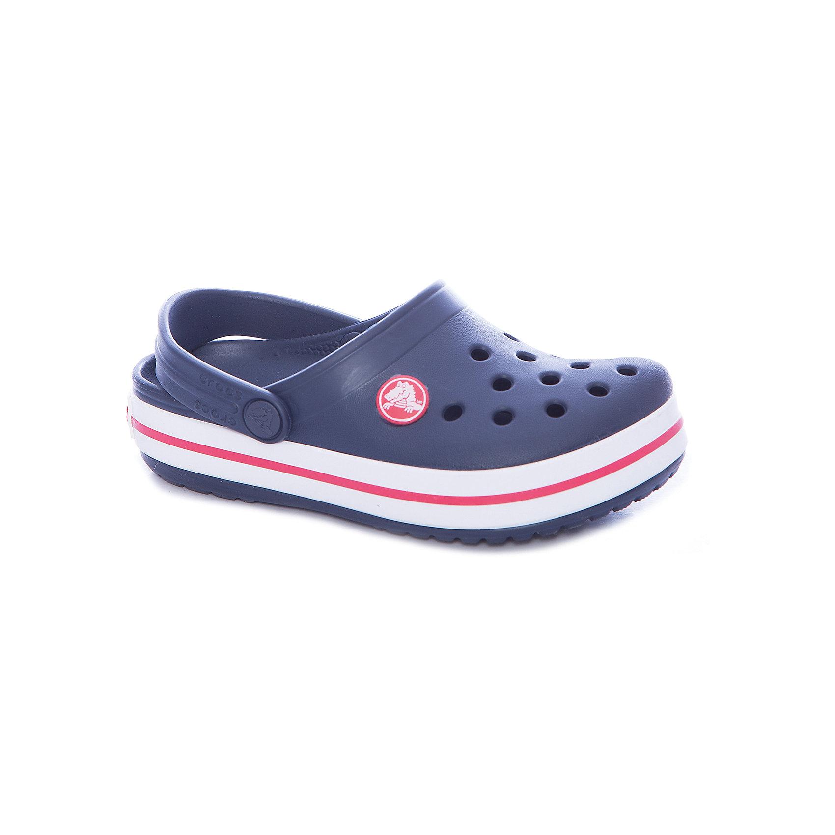 Сабо Crocband™ clog, синийПляжная обувь<br>Характеристики товара:<br><br>• цвет: синий<br>• материал: 100% полимер Croslite™<br>• литая модель<br>• вентиляционные отверстия<br>• бактериостатичный материал<br>• пяточный ремешок фиксирует стопу<br>• толстая устойчивая подошва<br>• отверстия для использования украшений<br>• анатомическая стелька с массажными точками стимулирует кровообращение<br>• страна бренда: США<br>• страна изготовитель: Китай<br><br>Для правильного развития ребенка крайне важно, чтобы обувь была удобной. <br><br>Такие сабо обеспечивают детям необходимый комфорт, а анатомическая стелька с массажными линиями для стимуляции кровообращения позволяет ножкам дольше не уставать. <br><br>Сабо легко надеваются и снимаются, отлично сидят на ноге. <br><br>Материал, из которого они сделаны, не дает размножаться бактериям, поэтому такая обувь препятствует образованию неприятного запаха и появлению болезней стоп.<br><br>Обувь от американского бренда Crocs в данный момент завоевала широкую популярность во всем мире, и это не удивительно - ведь она невероятно удобна. <br><br>Её носят врачи, спортсмены, звёзды шоу-бизнеса, люди, которым много времени приходится бывать на ногах - они понимают, как важна комфортная обувь. <br><br>Продукция Crocs - это качественные товары, созданные с применением новейших технологий. <br><br>Обувь отличается стильным дизайном и продуманной конструкцией. <br><br>Изделие производится из качественных и проверенных материалов, которые безопасны для детей.<br><br>Сабо Crocband™ clog от торговой марки Crocs можно купить в нашем интернет-магазине.<br><br>Ширина мм: 225<br>Глубина мм: 139<br>Высота мм: 112<br>Вес г: 290<br>Цвет: синий<br>Возраст от месяцев: 36<br>Возраст до месяцев: 48<br>Пол: Унисекс<br>Возраст: Детский<br>Размер: 27,28,29,30,21,22,23,24,25,26,31/32,33/34,34/35<br>SKU: 5416468