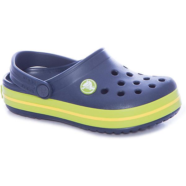 Сабо Crocband™ clog, синий, салатовыйПляжная обувь<br>Характеристики товара:<br><br>• цвет: синий, салатовый<br>• материал: 100% полимер Croslite™<br>• литая модель<br>• вентиляционные отверстия<br>• бактериостатичный материал<br>• пяточный ремешок фиксирует стопу<br>• толстая устойчивая подошва<br>• отверстия для использования украшений<br>• анатомическая стелька с массажными точками стимулирует кровообращение<br>• страна бренда: США<br>• страна изготовитель: Китай<br><br>Для правильного развития ребенка крайне важно, чтобы обувь была удобной. <br><br>Такие сабо обеспечивают детям необходимый комфорт, а анатомическая стелька с массажными линиями для стимуляции кровообращения позволяет ножкам дольше не уставать. <br><br>Сабо легко надеваются и снимаются, отлично сидят на ноге. <br><br>Материал, из которого они сделаны, не дает размножаться бактериям, поэтому такая обувь препятствует образованию неприятного запаха и появлению болезней стоп.<br><br>Обувь от американского бренда Crocs в данный момент завоевала широкую популярность во всем мире, и это не удивительно - ведь она невероятно удобна. <br><br>Её носят врачи, спортсмены, звёзды шоу-бизнеса, люди, которым много времени приходится бывать на ногах - они понимают, как важна комфортная обувь. <br><br>Продукция Crocs - это качественные товары, созданные с применением новейших технологий. <br><br>Обувь отличается стильным дизайном и продуманной конструкцией. <br><br>Изделие производится из качественных и проверенных материалов, которые безопасны для детей.<br><br>Сабо Crocband™ clog от торговой марки Crocs можно купить в нашем интернет-магазине.<br><br>Ширина мм: 225<br>Глубина мм: 139<br>Высота мм: 112<br>Вес г: 290<br>Цвет: синий<br>Возраст от месяцев: 36<br>Возраст до месяцев: 48<br>Пол: Унисекс<br>Возраст: Детский<br>Размер: 27,34/35,33/34,31/32,26,25,24,23,22,21,30,29,28<br>SKU: 5416482