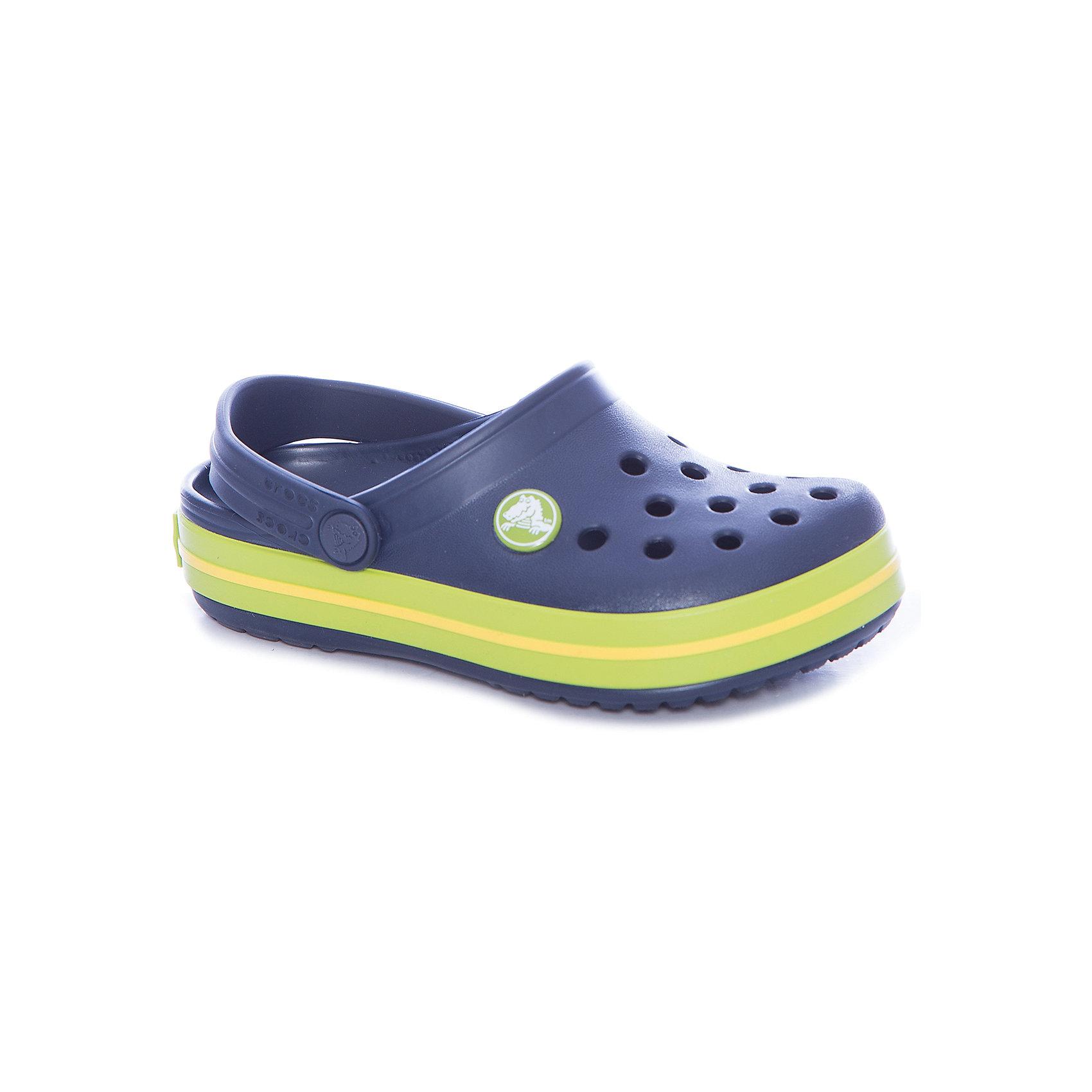 Сабо Crocband™ clog, синий, салатовыйПляжная обувь<br>Характеристики товара:<br><br>• цвет: синий, салатовый<br>• материал: 100% полимер Croslite™<br>• литая модель<br>• вентиляционные отверстия<br>• бактериостатичный материал<br>• пяточный ремешок фиксирует стопу<br>• толстая устойчивая подошва<br>• отверстия для использования украшений<br>• анатомическая стелька с массажными точками стимулирует кровообращение<br>• страна бренда: США<br>• страна изготовитель: Китай<br><br>Для правильного развития ребенка крайне важно, чтобы обувь была удобной. <br><br>Такие сабо обеспечивают детям необходимый комфорт, а анатомическая стелька с массажными линиями для стимуляции кровообращения позволяет ножкам дольше не уставать. <br><br>Сабо легко надеваются и снимаются, отлично сидят на ноге. <br><br>Материал, из которого они сделаны, не дает размножаться бактериям, поэтому такая обувь препятствует образованию неприятного запаха и появлению болезней стоп.<br><br>Обувь от американского бренда Crocs в данный момент завоевала широкую популярность во всем мире, и это не удивительно - ведь она невероятно удобна. <br><br>Её носят врачи, спортсмены, звёзды шоу-бизнеса, люди, которым много времени приходится бывать на ногах - они понимают, как важна комфортная обувь. <br><br>Продукция Crocs - это качественные товары, созданные с применением новейших технологий. <br><br>Обувь отличается стильным дизайном и продуманной конструкцией. <br><br>Изделие производится из качественных и проверенных материалов, которые безопасны для детей.<br><br>Сабо Crocband™ clog от торговой марки Crocs можно купить в нашем интернет-магазине.<br><br>Ширина мм: 225<br>Глубина мм: 139<br>Высота мм: 112<br>Вес г: 290<br>Цвет: синий<br>Возраст от месяцев: 18<br>Возраст до месяцев: 21<br>Пол: Унисекс<br>Возраст: Детский<br>Размер: 23,24,25,26,31/32,33/34,34/35,27,28,29,30,21,22<br>SKU: 5416482