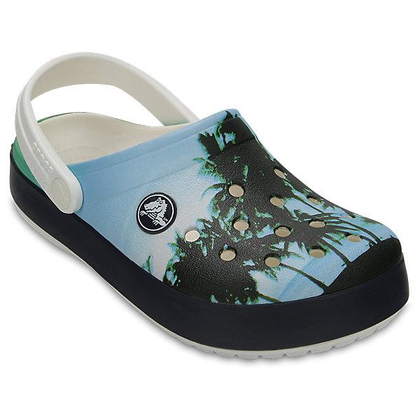 Сабо Kids Classic для мальчика CROCSПляжная обувь<br>Характеристики товара:<br><br>• цвет: разноцветный<br>• принт: пальмы<br>• сезон: лето<br>• тип: пляжная обувь<br>• материал: 100% полимер Croslite™<br>• под воздействием температуры тела принимают форму стопы<br>• полностью литая модель<br>• вентиляционные отверстия<br>• бактериостатичный материал<br>• пяточный ремешок фиксирует стопу<br>• отверстия для использования украшений<br>• анатомическая стелька с массажными точками<br>• страна бренда: США<br>• страна изготовитель: Китай<br><br>Для правильного развития ребенка крайне важно, чтобы обувь была удобной.<br><br>Такие сабо обеспечивают детям необходимый комфорт, а анатомическая стелька с массажными линиями для стимуляции кровообращения позволяет ножкам дольше не уставать. <br><br>Материал, из которого они сделаны, не дает размножаться бактериям, поэтому такая обувь препятствует образованию неприятного запаха и появлению болезней стоп.<br><br>Обувь от американского бренда Crocs в данный момент завоевала широкую популярность во всем мире, и это не удивительно - ведь она невероятно удобна. <br><br>Её носят врачи, спортсмены, звёзды шоу-бизнеса, люди, которым много времени приходится бывать на ногах - они понимают, как важна комфортная обувь. <br><br>Продукция Crocs - это качественные товары, созданные с применением новейших технологий. <br><br>Обувь отличается стильным дизайном и продуманной конструкцией. Изделие производится из качественных и проверенных материалов, которые безопасны для детей.<br><br>Сабо Kids Classic от торговой марки Crocs можно купить в нашем интернет-магазине.<br><br>Ширина мм: 225<br>Глубина мм: 139<br>Высота мм: 112<br>Вес г: 290<br>Цвет: белый<br>Возраст от месяцев: 36<br>Возраст до месяцев: 48<br>Пол: Мужской<br>Возраст: Детский<br>Размер: 27,34/35,33/34,31/32,26,25,24,23,22,21,30,29,28<br>SKU: 5416552
