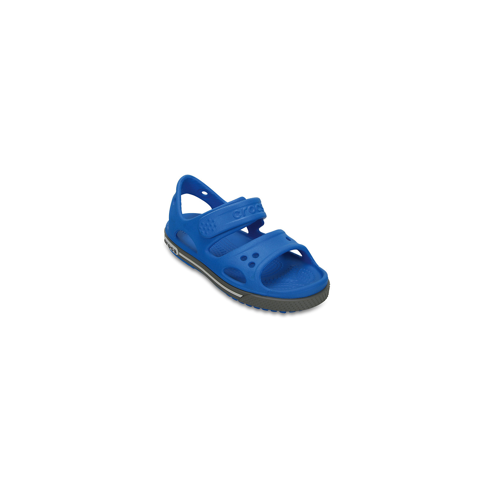Сандалии для мальчика Kids' Crocband™ II Sandal CROCSПляжная обувь<br>Характеристики товара:<br><br>• цвет: синий<br>• сезон: лето<br>• материал: 100% полимер Croslite™<br>• бактериостатичный материал<br>• ремешок фиксирует стопу<br>• антискользящая устойчивая подошва<br>• липучка<br>• анатомическая стелька с массажными точками<br>• страна бренда: США<br>• страна изготовитель: Китай<br><br>Для правильного развития ребенка крайне важно, чтобы обувь была удобной.<br><br>Такие сандалии обеспечивают детям необходимый комфорт, а анатомическая стелька с массажными линиями для стимуляции кровообращения позволяет ножкам дольше не уставать. <br><br>Сандалии легко надеваются и снимаются, отлично сидят на ноге. <br><br>Материал, из которого они сделаны, не дает размножаться бактериям, поэтому такая обувь препятствует образованию неприятного запаха и появлению болезней стоп. <br><br>Обувь от американского бренда Crocs в данный момент завоевала широкую популярность во всем мире, и это не удивительно - ведь она невероятно удобна. <br><br>Сандалии Kids' Crocband™ II Sandal от торговой марки Crocs можно купить в нашем интернет-магазине.<br><br>Ширина мм: 219<br>Глубина мм: 154<br>Высота мм: 121<br>Вес г: 343<br>Цвет: синий<br>Возраст от месяцев: 12<br>Возраст до месяцев: 15<br>Пол: Мужской<br>Возраст: Детский<br>Размер: 21,31/32,33/34,34/35,27,28,29,30,22,23,24,25,26<br>SKU: 5416619