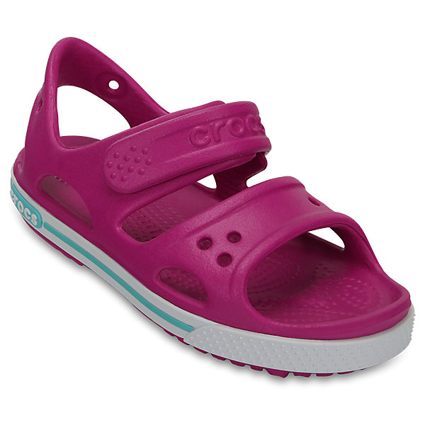 Сандалии для мальчика Kids' Crocband™ II Sandal CROCSПляжная обувь<br>Характеристики товара:<br><br>• цвет: фуксия<br>• сезон: лето<br>• материал: 100% полимер Croslite™<br>• бактериостатичный материал<br>• ремешок фиксирует стопу<br>• антискользящая устойчивая подошва<br>• липучка<br>• анатомическая стелька с массажными точками<br>• страна бренда: США<br>• страна изготовитель: Китай<br><br>Для правильного развития ребенка крайне важно, чтобы обувь была удобной.<br><br>Такие сандалии обеспечивают детям необходимый комфорт, а анатомическая стелька с массажными линиями для стимуляции кровообращения позволяет ножкам дольше не уставать. <br><br>Сандалии легко надеваются и снимаются, отлично сидят на ноге. <br><br>Материал, из которого они сделаны, не дает размножаться бактериям, поэтому такая обувь препятствует образованию неприятного запаха и появлению болезней стоп. <br><br>Обувь от американского бренда Crocs в данный момент завоевала широкую популярность во всем мире, и это не удивительно - ведь она невероятно удобна. <br><br>Сандалии Kids' Crocband™ II Sandal от торговой марки Crocs можно купить в нашем интернет-магазине.<br><br>Ширина мм: 219<br>Глубина мм: 154<br>Высота мм: 121<br>Вес г: 343<br>Цвет: лиловый<br>Возраст от месяцев: 36<br>Возраст до месяцев: 48<br>Пол: Женский<br>Возраст: Детский<br>Размер: 34/35,27,33/34,31/32,26,25,24,23,22,21,30,29,28<br>SKU: 5416647