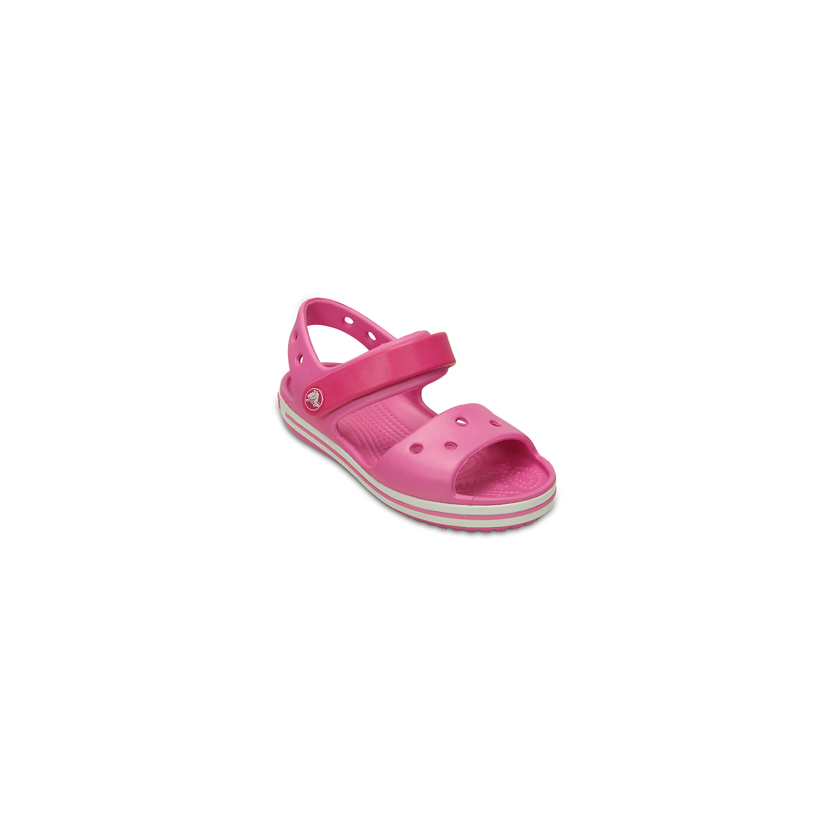 Сандалии Crocband™ Sandal Kids для девочки CrocsПляжная обувь<br>Характеристики товара:<br><br>• цвет: розовый<br>• сезон: лето<br>• материал: 100% полимер Croslite™<br>• бактериостатичный материал<br>• ремешок фиксирует стопу<br>• антискользящая устойчивая подошва<br>• липучка<br>• анатомическая стелька с массажными точками<br>• страна бренда: США<br>• страна изготовитель: Китай<br><br>Для правильного развития ребенка крайне важно, чтобы обувь была удобной.<br><br>Такие сандалии обеспечивают детям необходимый комфорт, а анатомическая стелька с массажными линиями для стимуляции кровообращения позволяет ножкам дольше не уставать. <br><br>Сандалии легко надеваются и снимаются, отлично сидят на ноге. <br><br>Материал, из которого они сделаны, не дает размножаться бактериям, поэтому такая обувь препятствует образованию неприятного запаха и появлению болезней стоп. <br><br>Обувь от американского бренда Crocs в данный момент завоевала широкую популярность во всем мире, и это не удивительно - ведь она невероятно удобна. <br><br>Сандалии Crocband™ Sandal Kids от торговой марки Crocs можно купить в нашем интернет-магазине.<br><br>Ширина мм: 219<br>Глубина мм: 154<br>Высота мм: 121<br>Вес г: 343<br>Цвет: розовый<br>Возраст от месяцев: 132<br>Возраст до месяцев: 144<br>Пол: Унисекс<br>Возраст: Детский<br>Размер: 34/35,27,28,29,30,21,22,23,24,25,26,31/32,33/34<br>SKU: 5416667