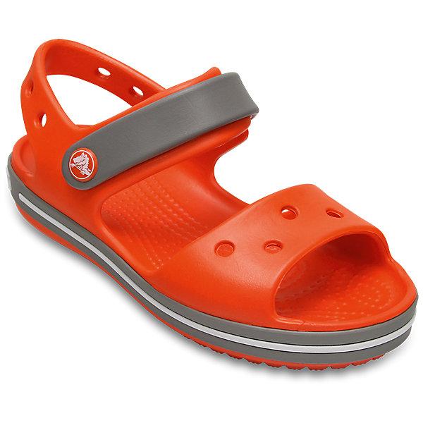 Сандалии Crocband™ Sandal Kids CrocsСандалии<br>Характеристики товара:<br><br>• цвет: оранжевый<br>• сезон: лето<br>• материал: 100% полимер Croslite™<br>• бактериостатичный материал<br>• ремешок фиксирует стопу<br>• антискользящая устойчивая подошва<br>• липучка<br>• анатомическая стелька с массажными точками<br>• страна бренда: США<br>• страна изготовитель: Китай<br><br>Для правильного развития ребенка крайне важно, чтобы обувь была удобной.<br><br>Такие сандалии обеспечивают детям необходимый комфорт, а анатомическая стелька с массажными линиями для стимуляции кровообращения позволяет ножкам дольше не уставать. <br><br>Сандалии легко надеваются и снимаются, отлично сидят на ноге. <br><br>Материал, из которого они сделаны, не дает размножаться бактериям, поэтому такая обувь препятствует образованию неприятного запаха и появлению болезней стоп. <br><br>Обувь от американского бренда Crocs в данный момент завоевала широкую популярность во всем мире, и это не удивительно - ведь она невероятно удобна. <br><br>Сандалии Crocband™ Sandal Kids от торговой марки Crocs можно купить в нашем интернет-магазине.<br>Ширина мм: 219; Глубина мм: 154; Высота мм: 121; Вес г: 343; Цвет: оранжевый; Возраст от месяцев: 24; Возраст до месяцев: 24; Пол: Унисекс; Возраст: Детский; Размер: 25,27,34/35,33/34,31/32,26,24,23,22,21,30,29,28; SKU: 5416681;