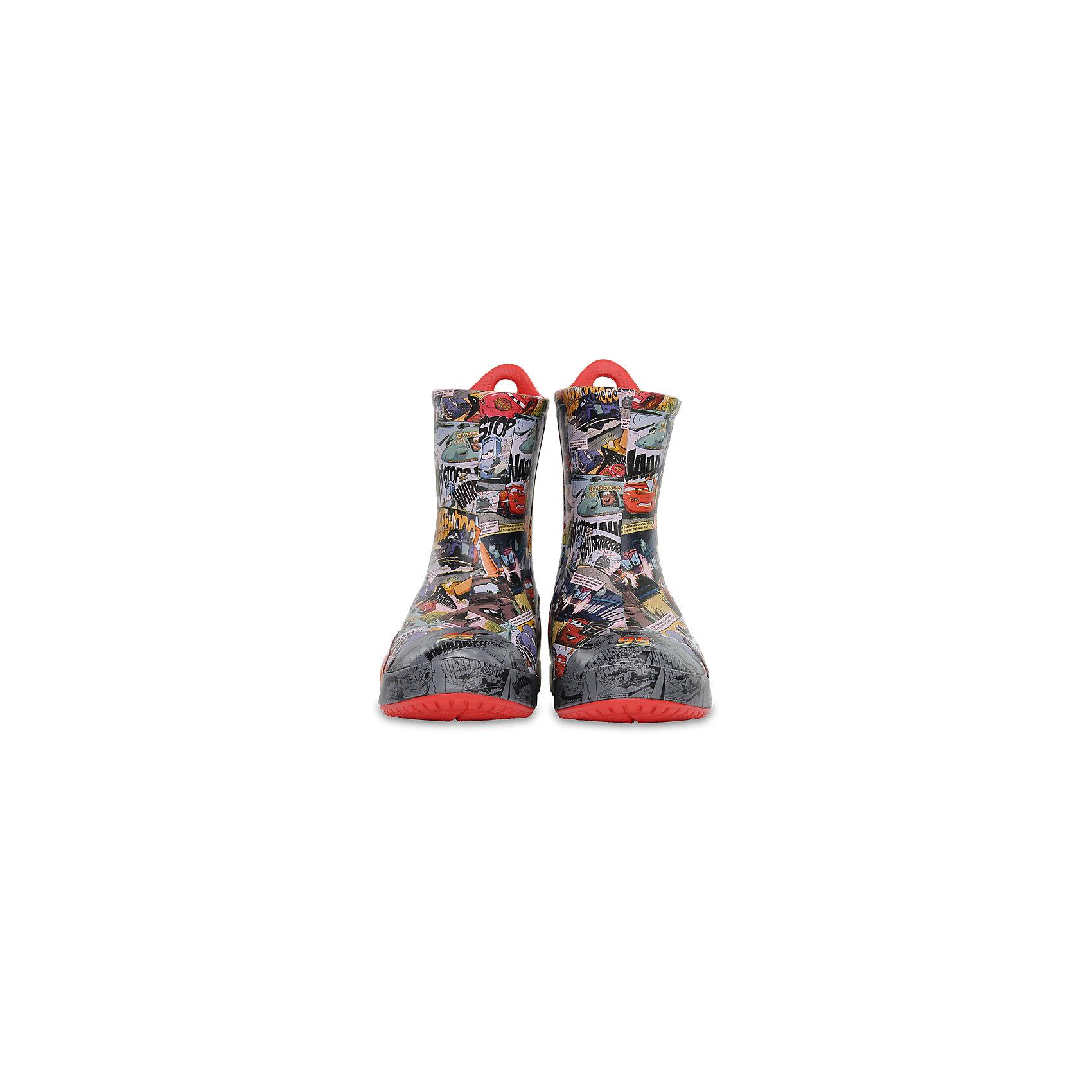 Резиновые сапоги  CROCSПляжная обувь<br>Характеристики товара:<br><br>• цвет: серый<br>• материал: 100% полимер Croslite™<br>• непромокаемые<br>• температурный режим: от 0° до +20° С<br>• легко очищаются<br>• антискользящая подошва<br>• язычок для удобного надевания<br>• толстая устойчивая подошва<br>• страна бренда: США<br>• страна изготовитель: Китай<br><br>Сапоги могут быть и стильными, и непромокаемыми! Для детской обуви крайне важно, чтобы она была удобной. Такие сапоги обеспечивают детям необходимый комфорт, а надежный материал не пропускает внутрь воду. Сапоги легко надеваются и снимаются, отлично сидят на ноге. Материал, из которого они сделаны, не дает размножаться бактериям, поэтому такая обувь препятствует образованию неприятного запаха и появлению болезней стоп. Данная модель особенно понравится детям - ведь в них можно бегать по лужам!<br>Обувь от американского бренда Crocs в данный момент завоевала широкую популярность во всем мире, и это не удивительно - ведь она невероятно удобна. Её носят врачи, спортсмены, звёзды шоу-бизнеса, люди, которым много времени приходится бывать на ногах - они понимают, как важна комфортная обувь. Продукция Crocs - это качественные товары, созданные с применением новейших технологий. Обувь отличается стильным дизайном и продуманной конструкцией. Изделие производится из качественных и проверенных материалов, которые безопасны для детей.<br><br>Резиновые сапоги от торговой марки Crocs можно купить в нашем интернет-магазине.<br><br>Ширина мм: 237<br>Глубина мм: 180<br>Высота мм: 152<br>Вес г: 438<br>Цвет: красный<br>Возраст от месяцев: 60<br>Возраст до месяцев: 72<br>Пол: Унисекс<br>Возраст: Детский<br>Размер: 29,30,23,24,25,26,31/32,33/34,34/35,27,28<br>SKU: 5416718