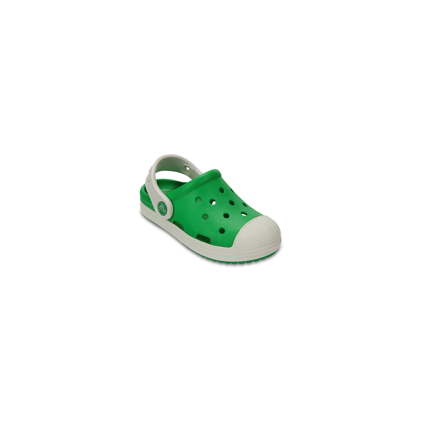 Сабо Kids' Crocs Bump It Clog, зеленыйПляжная обувь<br>Характеристики товара:<br><br>• цвет: зеленый<br>• материал: 100% полимер Croslite™<br>• литая модель<br>• вентиляционные отверстия<br>• бактериостатичный материал<br>• пяточный ремешок фиксирует стопу<br>• толстая устойчивая подошва<br>• страна бренда: США<br>• страна изготовитель: Китай<br><br>Сабо Kids' Crocs обеспечивают детям необходимый комфорт, а анатомическая стелька с массажными линиями для стимуляции кровообращения позволяет ножкам дольше не уставать. <br><br>Сабо легко надеваются и снимаются, отлично сидят на ноге. <br><br>Материал, из которого они сделаны, не дает размножаться бактериям, поэтому такая обувь препятствует образованию неприятного запаха и появлению болезней стоп. <br><br>Изделие производится из качественных и проверенных материалов, которые безопасны для детей.<br><br>Сабо Kids' Crocs Bump It Clog от торговой марки Crocs можно купить в нашем интернет-магазине.<br><br>Ширина мм: 225<br>Глубина мм: 139<br>Высота мм: 112<br>Вес г: 290<br>Цвет: зеленый<br>Возраст от месяцев: 132<br>Возраст до месяцев: 144<br>Пол: Унисекс<br>Возраст: Детский<br>Размер: 26,25,24,23,30,28,27,29,34/35,33/34,31/32<br>SKU: 5416733