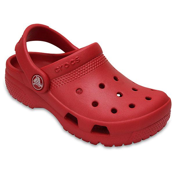 Сабо Classic clog, CROCSПляжная обувь<br>Характеристики товара:<br><br>• цвет: красный<br>• сезон: лето<br>• тип: пляжная обувь<br>• материал: 100% полимер Croslite™<br>• литая модель<br>• вентиляционные отверстия<br>• бактериостатичный материал<br>• пяточный ремешок фиксирует стопу<br>• толстая устойчивая подошва<br>• отверстия для использования украшений<br>• анатомическая стелька с массажными точками<br>• страна бренда: США<br>• страна изготовитель: Китай<br><br>Сабо Classic clog обеспечивают детям необходимый комфорт, а анатомическая стелька с массажными линиями для стимуляции кровообращения позволяет ножкам дольше не уставать. <br><br>Материал, из которого они сделаны, не дает размножаться бактериям, поэтому такая обувь препятствует образованию неприятного запаха и появлению болезней стоп. <br><br>Обувь от американского бренда Crocs в данный момент завоевала широкую популярность во всем мире, и это не удивительно - ведь она невероятно удобна. <br><br>Сабо Classic clog от торговой марки Crocs можно купить в нашем интернет-магазине.<br>Ширина мм: 225; Глубина мм: 139; Высота мм: 112; Вес г: 290; Цвет: красный; Возраст от месяцев: 36; Возраст до месяцев: 48; Пол: Унисекс; Возраст: Детский; Размер: 27,34/35,33/34,31/32,26,25,24,23,30,29,28; SKU: 5416784;