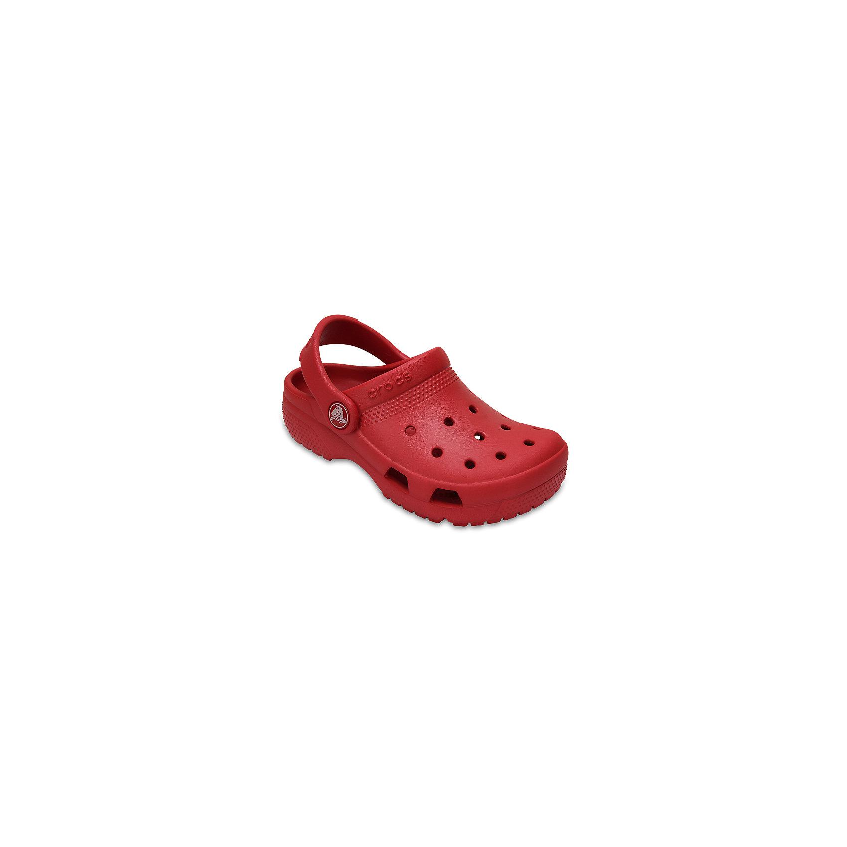 Сабо Classic clog, CROCSПляжная обувь<br>Характеристики товара:<br><br>• цвет: красный<br>• сезон: лето<br>• тип: пляжная обувь<br>• материал: 100% полимер Croslite™<br>• литая модель<br>• вентиляционные отверстия<br>• бактериостатичный материал<br>• пяточный ремешок фиксирует стопу<br>• толстая устойчивая подошва<br>• отверстия для использования украшений<br>• анатомическая стелька с массажными точками<br>• страна бренда: США<br>• страна изготовитель: Китай<br><br>Сабо Classic clog обеспечивают детям необходимый комфорт, а анатомическая стелька с массажными линиями для стимуляции кровообращения позволяет ножкам дольше не уставать. <br><br>Материал, из которого они сделаны, не дает размножаться бактериям, поэтому такая обувь препятствует образованию неприятного запаха и появлению болезней стоп. <br><br>Обувь от американского бренда Crocs в данный момент завоевала широкую популярность во всем мире, и это не удивительно - ведь она невероятно удобна. <br><br>Сабо Classic clog от торговой марки Crocs можно купить в нашем интернет-магазине.<br><br>Ширина мм: 225<br>Глубина мм: 139<br>Высота мм: 112<br>Вес г: 290<br>Цвет: красный<br>Возраст от месяцев: 24<br>Возраст до месяцев: 36<br>Пол: Унисекс<br>Возраст: Детский<br>Размер: 26,31/32,33/34,27,34/35,28,29,30,23,24,25<br>SKU: 5416784