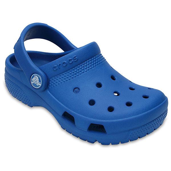 Сабо Classic clog, CROCSПляжная обувь<br>Характеристики товара:<br><br>• цвет: синий<br>• сезон: лето<br>• тип: пляжная обувь<br>• материал: 100% полимер Croslite™<br>• литая модель<br>• вентиляционные отверстия<br>• бактериостатичный материал<br>• пяточный ремешок фиксирует стопу<br>• толстая устойчивая подошва<br>• отверстия для использования украшений<br>• анатомическая стелька с массажными точками<br>• страна бренда: США<br>• страна изготовитель: Китай<br><br>Сабо Classic clog обеспечивают детям необходимый комфорт, а анатомическая стелька с массажными линиями для стимуляции кровообращения позволяет ножкам дольше не уставать. <br><br>Материал, из которого они сделаны, не дает размножаться бактериям, поэтому такая обувь препятствует образованию неприятного запаха и появлению болезней стоп. <br><br>Обувь от американского бренда Crocs в данный момент завоевала широкую популярность во всем мире, и это не удивительно - ведь она невероятно удобна. <br><br>Сабо Classic clog от торговой марки Crocs можно купить в нашем интернет-магазине.<br>Ширина мм: 225; Глубина мм: 139; Высота мм: 112; Вес г: 290; Цвет: синий; Возраст от месяцев: 36; Возраст до месяцев: 48; Пол: Унисекс; Возраст: Детский; Размер: 27,34/35,33/34,31/32,26,25,24,23,30,29,28; SKU: 5416796;