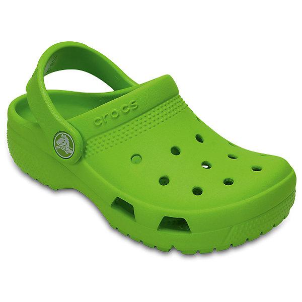 Сабо Classic clog, CROCSПляжная обувь<br>Характеристики товара:<br><br>• цвет: зеленый<br>• сезон: лето<br>• тип: пляжная обувь<br>• материал: 100% полимер Croslite™<br>• литая модель<br>• вентиляционные отверстия<br>• бактериостатичный материал<br>• пяточный ремешок фиксирует стопу<br>• толстая устойчивая подошва<br>• отверстия для использования украшений<br>• анатомическая стелька с массажными точками<br>• страна бренда: США<br>• страна изготовитель: Китай<br><br>Сабо Classic clog обеспечивают детям необходимый комфорт, а анатомическая стелька с массажными линиями для стимуляции кровообращения позволяет ножкам дольше не уставать. <br><br>Материал, из которого они сделаны, не дает размножаться бактериям, поэтому такая обувь препятствует образованию неприятного запаха и появлению болезней стоп. <br><br>Обувь от американского бренда Crocs в данный момент завоевала широкую популярность во всем мире, и это не удивительно - ведь она невероятно удобна. <br><br>Сабо Classic clog от торговой марки Crocs можно купить в нашем интернет-магазине.<br>Ширина мм: 225; Глубина мм: 139; Высота мм: 112; Вес г: 290; Цвет: зеленый; Возраст от месяцев: 36; Возраст до месяцев: 48; Пол: Унисекс; Возраст: Детский; Размер: 27,34/35,28,29,30,23,24,25,26,31/32,33/34; SKU: 5416808;