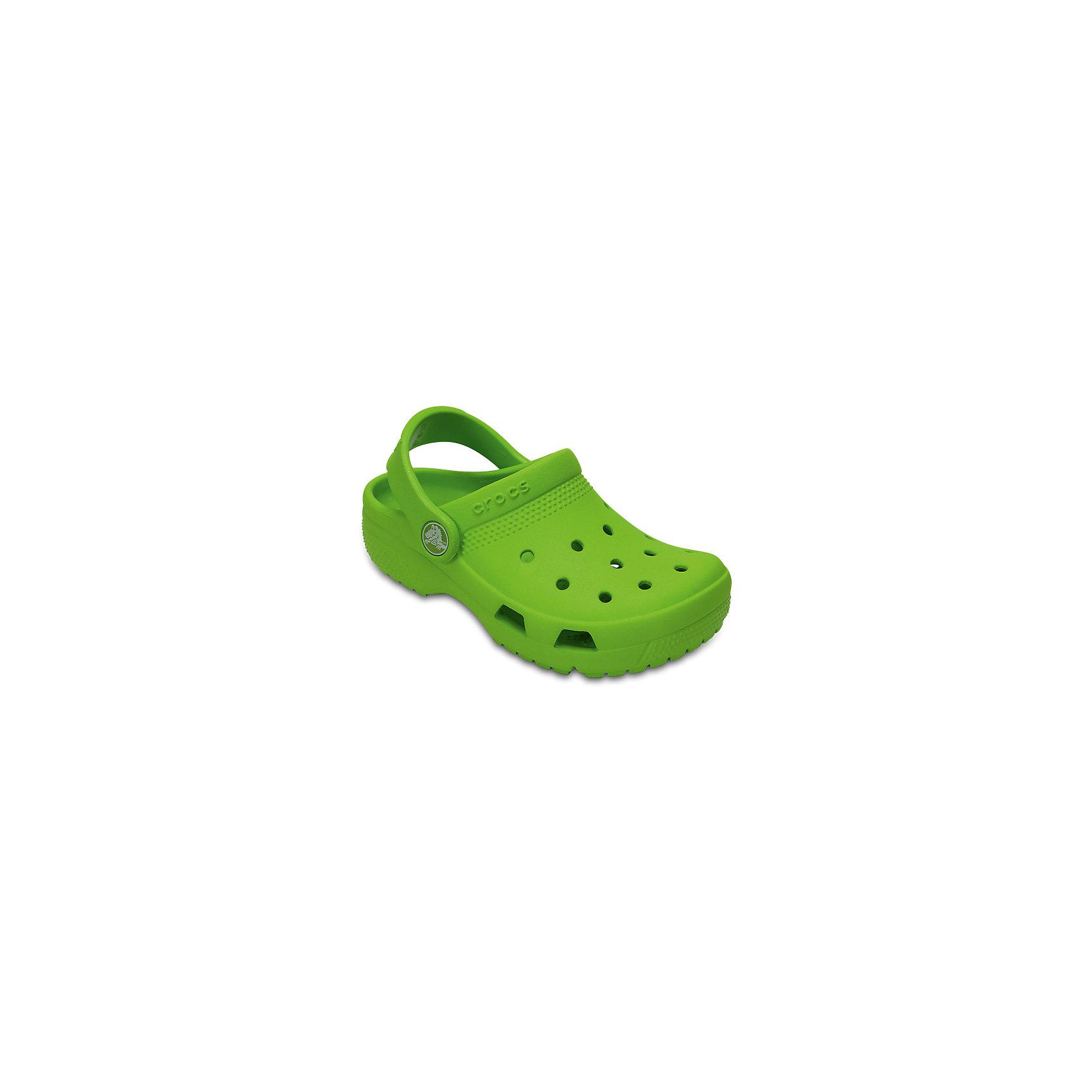 Сабо Classic clog, CROCSПляжная обувь<br>Характеристики товара:<br><br>• цвет: зеленый<br>• сезон: лето<br>• тип: пляжная обувь<br>• материал: 100% полимер Croslite™<br>• литая модель<br>• вентиляционные отверстия<br>• бактериостатичный материал<br>• пяточный ремешок фиксирует стопу<br>• толстая устойчивая подошва<br>• отверстия для использования украшений<br>• анатомическая стелька с массажными точками<br>• страна бренда: США<br>• страна изготовитель: Китай<br><br>Сабо Classic clog обеспечивают детям необходимый комфорт, а анатомическая стелька с массажными линиями для стимуляции кровообращения позволяет ножкам дольше не уставать. <br><br>Материал, из которого они сделаны, не дает размножаться бактериям, поэтому такая обувь препятствует образованию неприятного запаха и появлению болезней стоп. <br><br>Обувь от американского бренда Crocs в данный момент завоевала широкую популярность во всем мире, и это не удивительно - ведь она невероятно удобна. <br><br>Сабо Classic clog от торговой марки Crocs можно купить в нашем интернет-магазине.<br><br>Ширина мм: 225<br>Глубина мм: 139<br>Высота мм: 112<br>Вес г: 290<br>Цвет: зеленый<br>Возраст от месяцев: 132<br>Возраст до месяцев: 144<br>Пол: Унисекс<br>Возраст: Детский<br>Размер: 34/35,27,28,29,30,23,24,25,26,31/32,33/34<br>SKU: 5416808
