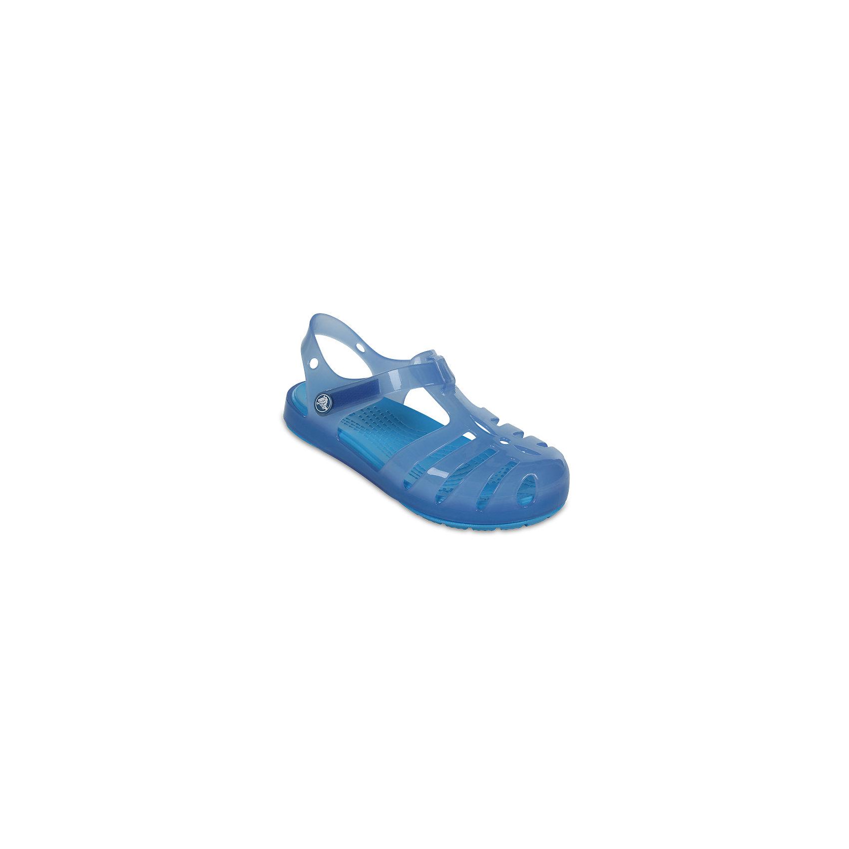 Сандалии для девочки Isabella Novelty Sandals CROCSПляжная обувь<br>Характеристики товара:<br><br>• цвет: голубой<br>• сезон: лето<br>• тип сандалей: закрытые<br>• материал: 100% полимер Croslite™<br>• литая модель<br>• бактериостатичный материал<br>• пяточный ремешок фиксирует стопу<br>• устойчивая подошва<br>• анатомическая стелька с массажными точками<br>• страна бренда: США<br>• страна изготовитель: Китай<br><br>Для правильного развития ребенка крайне важно, чтобы обувь была удобной. <br><br>Такие сандалии обеспечивают детям необходимый комфорт, а анатомическая стелька с массажными линиями для стимуляции кровообращения позволяет ножкам дольше не уставать. <br><br>Сандалии легко надеваются и снимаются, отлично сидят на ноге. Материал, из которого они сделаны, не дает размножаться бактериям, поэтому такая обувь препятствует образованию неприятного запаха и появлению болезней стоп. <br><br>Продукция Crocs - это качественные товары, созданные с применением новейших технологий. Обувь отличается стильным дизайном и продуманной конструкцией.<br><br>Сандалии для девочки Isabella Novelty Sandals от торговой марки Crocs можно купить в нашем интернет-магазине.<br><br>Ширина мм: 219<br>Глубина мм: 154<br>Высота мм: 121<br>Вес г: 343<br>Цвет: синий<br>Возраст от месяцев: 15<br>Возраст до месяцев: 18<br>Пол: Женский<br>Возраст: Детский<br>Размер: 22,23,21,30,29,28,27,26,25,24<br>SKU: 5416842