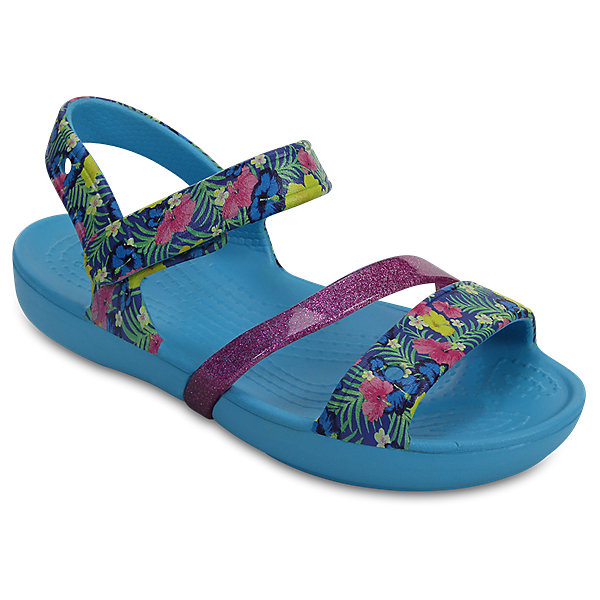 Босоножки LINA SANDAL CrocsПляжная обувь<br>Характеристики товара:<br><br>• цвет: голубой<br>• сезон: лето<br>• материал: 100% полимер Croslite™<br>• литая модель<br>• бактериостатичный материал<br>• пяточный ремешок фиксирует стопу<br>• устойчивая подошва<br>• анатомическая стелька с массажными точками<br>• страна бренда: США<br>• страна изготовитель: Китай<br><br>Обувь от американского бренда Crocs завоевала широкую популярность во всем мире, и это не удивительно - ведь она невероятно удобна. <br><br>Её носят врачи, спортсмены, звёзды шоу-бизнеса, люди, которым много времени приходится бывать на ногах - они понимают, как важна комфортная обувь. <br><br>Продукция Crocs - это качественные товары, созданные с применением новейших технологий. Обувь отличается стильным дизайном и продуманной конструкцией. <br><br>Изделие производится из качественных и проверенных материалов, которые безопасны для детей.<br><br>Сандалии LINA SANDAL от торговой марки Crocs можно купить в нашем интернет-магазине.<br><br>Ширина мм: 219<br>Глубина мм: 154<br>Высота мм: 121<br>Вес г: 343<br>Цвет: голубой<br>Возраст от месяцев: 18<br>Возраст до месяцев: 21<br>Пол: Женский<br>Возраст: Детский<br>Размер: 23,31/32,22,21,26,30,29,28,27,25,24,34/35,33/34<br>SKU: 5416892