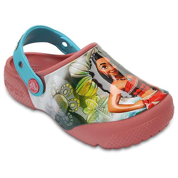 Сабо Kids Classic, CROCSПляжная обувь<br>Характеристики товара:<br><br>• цвет: мультиколор<br>• принт:Моана<br>• сезон: лето<br>• тип: пляжная обувь<br>• материал: 100% полимер Croslite™<br>• под воздействием температуры тела принимают форму стопы<br>• полностью литая модель<br>• вентиляционные отверстия<br>• бактериостатичный материал<br>• пяточный ремешок фиксирует стопу<br>• отверстия для использования украшений<br>• анатомическая стелька с массажными точками<br>• страна бренда: США<br>• страна изготовитель: Китай<br><br>Для правильного развития ребенка крайне важно, чтобы обувь была удобной.<br><br>Такие сабо обеспечивают детям необходимый комфорт, а анатомическая стелька с массажными линиями для стимуляции кровообращения позволяет ножкам дольше не уставать. <br><br>Материал, из которого они сделаны, не дает размножаться бактериям, поэтому такая обувь препятствует образованию неприятного запаха и появлению болезней стоп.<br><br>Обувь от американского бренда Crocs в данный момент завоевала широкую популярность во всем мире, и это не удивительно - ведь она невероятно удобна. <br><br>Её носят врачи, спортсмены, звёзды шоу-бизнеса, люди, которым много времени приходится бывать на ногах - они понимают, как важна комфортная обувь. <br><br>Продукция Crocs - это качественные товары, созданные с применением новейших технологий. <br><br>Обувь отличается стильным дизайном и продуманной конструкцией. Изделие производится из качественных и проверенных материалов, которые безопасны для детей.<br><br>Сабо Kids Classic от торговой марки Crocs можно купить в нашем интернет-магазине.<br><br>Ширина мм: 225<br>Глубина мм: 139<br>Высота мм: 112<br>Вес г: 290<br>Цвет: оранжевый<br>Возраст от месяцев: 48<br>Возраст до месяцев: 60<br>Пол: Женский<br>Возраст: Детский<br>Размер: 28,34/35,27,29,30,21,22,23,24,25,26,31/32,33/34<br>SKU: 5416948