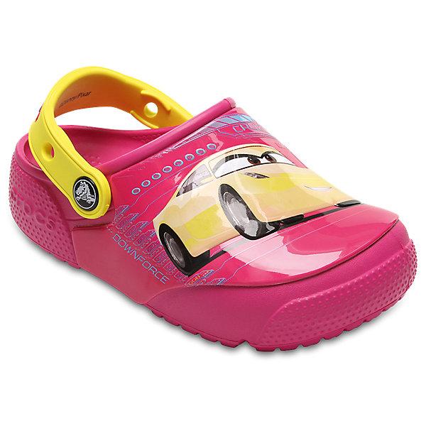 Сабо Kids Classic, CROCSПляжная обувь<br>Характеристики товара:<br><br>• цвет: розовый<br>• принт: Тачки<br>• сезон: лето<br>• тип: пляжная обувь<br>• материал: 100% полимер Croslite™<br>• под воздействием температуры тела принимают форму стопы<br>• полностью литая модель<br>• вентиляционные отверстия<br>• бактериостатичный материал<br>• пяточный ремешок фиксирует стопу<br>• отверстия для использования украшений<br>• анатомическая стелька с массажными точками<br>• страна бренда: США<br>• страна изготовитель: Китай<br><br>Для правильного развития ребенка крайне важно, чтобы обувь была удобной.<br><br>Такие сабо обеспечивают детям необходимый комфорт, а анатомическая стелька с массажными линиями для стимуляции кровообращения позволяет ножкам дольше не уставать. <br><br>Материал, из которого они сделаны, не дает размножаться бактериям, поэтому такая обувь препятствует образованию неприятного запаха и появлению болезней стоп.<br><br>Обувь от американского бренда Crocs в данный момент завоевала широкую популярность во всем мире, и это не удивительно - ведь она невероятно удобна. <br><br>Её носят врачи, спортсмены, звёзды шоу-бизнеса, люди, которым много времени приходится бывать на ногах - они понимают, как важна комфортная обувь. <br><br>Продукция Crocs - это качественные товары, созданные с применением новейших технологий. <br><br>Обувь отличается стильным дизайном и продуманной конструкцией. Изделие производится из качественных и проверенных материалов, которые безопасны для детей.<br><br>Сабо Kids Classic от торговой марки Crocs можно купить в нашем интернет-магазине.<br>Ширина мм: 225; Глубина мм: 139; Высота мм: 112; Вес г: 290; Цвет: розовый; Возраст от месяцев: 36; Возраст до месяцев: 48; Пол: Унисекс; Возраст: Детский; Размер: 27,34/35,33/34,31/32,26,25,24,23,22,21,30,29,28; SKU: 5416962;