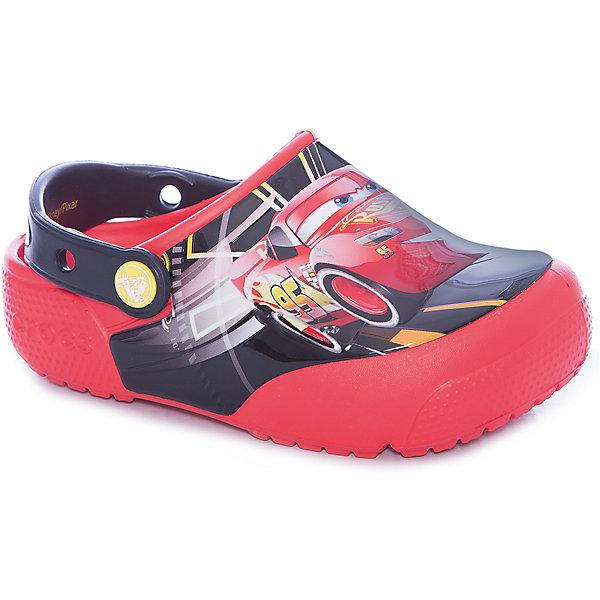 Сабо Kids Classic Cars, CROCSПляжная обувь<br>Характеристики товара:<br><br>• цвет: красный<br>• принт: Тачки<br>• сезон: лето<br>• тип: пляжная обувь<br>• материал: 100% полимер Croslite™<br>• под воздействием температуры тела принимают форму стопы<br>• полностью литая модель<br>• вентиляционные отверстия<br>• бактериостатичный материал<br>• пяточный ремешок фиксирует стопу<br>• отверстия для использования украшений<br>• анатомическая стелька с массажными точками<br>• страна бренда: США<br>• страна изготовитель: Китай<br><br>Для правильного развития ребенка крайне важно, чтобы обувь была удобной.<br><br>Такие сабо обеспечивают детям необходимый комфорт, а анатомическая стелька с массажными линиями для стимуляции кровообращения позволяет ножкам дольше не уставать. <br><br>Сабо легко надеваются и снимаются, отлично сидят на ноге. <br><br>Материал, из которого они сделаны, не дает размножаться бактериям, поэтому такая обувь препятствует образованию неприятного запаха и появлению болезней стоп.<br><br>Обувь от американского бренда Crocs в данный момент завоевала широкую популярность во всем мире, и это не удивительно - ведь она невероятно удобна. <br><br>Её носят врачи, спортсмены, звёзды шоу-бизнеса, люди, которым много времени приходится бывать на ногах - они понимают, как важна комфортная обувь. <br><br>Продукция Crocs - это качественные товары, созданные с применением новейших технологий. <br><br>Обувь отличается стильным дизайном и продуманной конструкцией. Изделие производится из качественных и проверенных материалов, которые безопасны для детей.<br><br>Сабо Kids Classic от торговой марки Crocs можно купить в нашем интернет-магазине.<br>Ширина мм: 225; Глубина мм: 139; Высота мм: 112; Вес г: 290; Цвет: красный; Возраст от месяцев: 36; Возраст до месяцев: 48; Пол: Унисекс; Возраст: Детский; Размер: 27,34/35,33/34,31/32,26,25,24,22,21,30,29,28,23; SKU: 5416976;