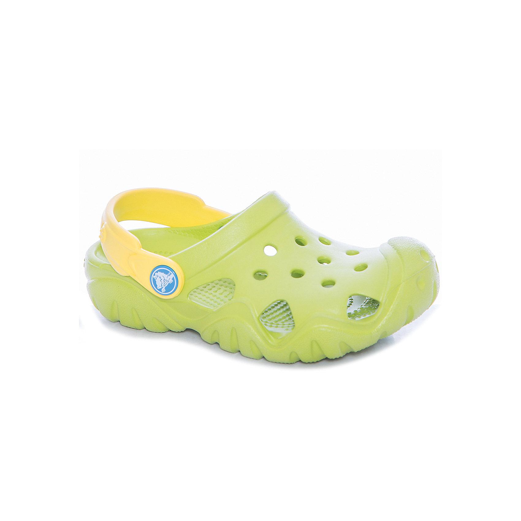 Сабо Kids Classic, CROCS, зеленыйПляжная обувь<br>Характеристики товара:<br><br>• цвет: зеленый<br>• сезон: лето<br>• тип: пляжная обувь<br>• материал: 100% полимер Croslite™<br>• под воздействием температуры тела принимают форму стопы<br>• полностью литая модель<br>• вентиляционные отверстия<br>• бактериостатичный материал<br>• пяточный ремешок фиксирует стопу<br>• толстая устойчивая подошва<br>• анатомическая стелька с массажными точками<br>• страна бренда: США<br>• страна изготовитель: Китай<br><br>Для правильного развития ребенка крайне важно, чтобы обувь была удобной.<br><br>Такие сабо обеспечивают детям необходимый комфорт, а анатомическая стелька с массажными линиями для стимуляции кровообращения позволяет ножкам дольше не уставать. <br><br>Сабо легко надеваются и снимаются, отлично сидят на ноге. <br><br>Материал, из которого они сделаны, не дает размножаться бактериям, поэтому такая обувь препятствует образованию неприятного запаха и появлению болезней стоп.<br><br>Обувь от американского бренда Crocs в данный момент завоевала широкую популярность во всем мире, и это не удивительно - ведь она невероятно удобна. <br><br>Продукция Crocs - это качественные товары, созданные с применением новейших технологий.<br><br>Сабо Kids Classic от торговой марки Crocs можно купить в нашем интернет-магазине.<br><br>Ширина мм: 225<br>Глубина мм: 139<br>Высота мм: 112<br>Вес г: 290<br>Цвет: зеленый<br>Возраст от месяцев: 132<br>Возраст до месяцев: 144<br>Пол: Унисекс<br>Возраст: Детский<br>Размер: 34/35,27,28,29,30,23,24,25,26,31/32,33/34<br>SKU: 5417081