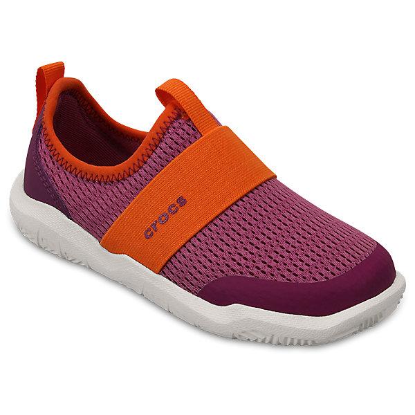 Кроссовки Kids Swiftwater Easy-On Shoes, розовыйПляжная обувь<br>Характеристики:<br><br>• цвет: розовый<br>• материал: верх - текстиль, низ - 100% полимер Croslite™<br>• дышащая сетка-меш для удобства надевания и снимания<br>• модная эластичная вставка сверху<br>• сезон: демисезон, лето<br>• легкий сетчатый материал; носок усилен тканью <br>• эластичный ремешок для более удобной посадки и надежной фиксации<br>• петля на заднике для удобства надевания<br>• стелька Croslite™<br><br>Продукция Crocs - это качественные товары, созданные с применением новейших технологий. <br><br>Обувь отличается стильным дизайном и продуманной конструкцией. <br><br>Изделие производится из качественных и проверенных материалов, которые безопасны для детей.<br><br>Кроссовки Kids Swiftwater Easy-On Shoes от торговой марки Crocs можно купить в нашем интернет-магазине.<br>Ширина мм: 250; Глубина мм: 150; Высота мм: 150; Вес г: 250; Цвет: розовый; Возраст от месяцев: 24; Возраст до месяцев: 36; Пол: Унисекс; Возраст: Детский; Размер: 26,31/32,25,24,23,30,29,28,27,34/35,33/34; SKU: 5417117;