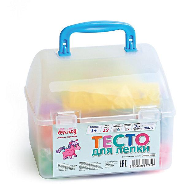 Тесто для лепки 12 цветов + 3 формочки, стек, прессТесто для лепки<br>Тесто для лепки, 12 цветов + 3 формочки, стек, пресс.<br><br>Характеристика: <br><br>• Материал: пшеничная мука крахмал, вода, соль, пищевая добавка, пищевая краситель; пластик. <br>• Размер упаковки: 15,5х13,5х11,5 см.  <br>• Комплектация: тесто для лепки 12 цветов + 3 формочки, стек, пресс.<br>• Яркие, насыщенные цвета. <br>• 12 цветов (по 25 гр.)<br>• Легко смывается с одежды и рук. <br>• Безопасно при проглатывании. <br>• Отлично развивает моторику рук, внимание, мышление и воображение. <br>• Удобная упаковка в виде пластикового сундучка с ручкой для переноски и застежкой.<br><br>Мягкое тесто для лепки - отличный подарок для малыша. Тесто изготовлено из натуральных материалов, с использованием абсолютно безопасных для детей красителей, легко смывается с одежды и рук. Лепка - прекрасный вид детского досуга, помогающий развить мелкую моторику, цветовосприятие, воображение и мышление.<br><br>Тесто для лепки, 12 цветов + 3 формочки, стек, пресс, можно купить в нашем интернет-магазине.<br><br>Ширина мм: 160<br>Глубина мм: 130<br>Высота мм: 130<br>Вес г: 300<br>Возраст от месяцев: 12<br>Возраст до месяцев: 36<br>Пол: Унисекс<br>Возраст: Детский<br>SKU: 5417574