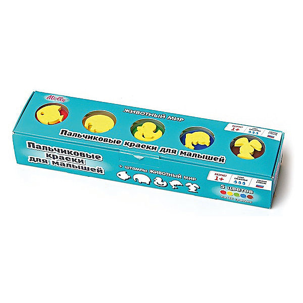 Пальчиковые краски Животный мир со штампиками, 5 цветовПальчиковые краски<br>Пальчиковые краски Животный мир со штампиками, 5 цветов.<br><br>Характеристика: <br><br>• Материал: пищевой краситель, целлюлозный загуститель, глицерин, мел, консервант косметический, вода питьевая. <br>• Размер упаковки: 24х6х4 см.<br>• Объем баночки: 22 мл.<br>• Количество цветов: 5.<br>• Комплектация: 5 баночек с краской, 5 штампиков. <br>• Яркие, насыщенные цвета. <br>• Краска легко смывается с одежды и рук. <br>• Безопасна при проглатывании. <br>• Отлично развивает моторику рук, внимание, мышление и воображение. <br>• Оригинальный фигурные штампики. <br><br>Пальчиковые краски - идеальный вариант для самых юных и активных художников! Краски изготовлены их высококачественных нетоксичных материалов абсолютно безопасных для малышей. Яркие цвета и оригинальные штампики-трафареты обязательно заинтересуют кроху и подарят множество приятных творческих моментов!<br><br>Рисование - прекрасный вид детского досуга. В процессе художественной деятельности ребенок развивает моторику рук, цветовосприятие, фантазию и усидчивость, получая при этом море положительных эмоций. <br><br>Пальчиковые краски Животный мир со штампиками, 5 цветов, можно купить в нашем интернет-магазине.<br>Ширина мм: 24; Глубина мм: 6; Высота мм: 4; Вес г: 110; Возраст от месяцев: 12; Возраст до месяцев: 36; Пол: Унисекс; Возраст: Детский; SKU: 5417576;