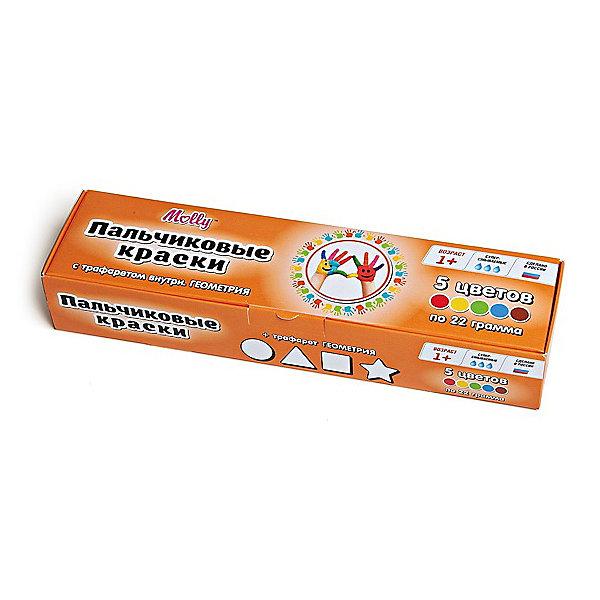 Пальчиковые краски Геометрия с трафаретом, 5 цветовПальчиковые краски<br>Пальчиковые краски Геометрия с трафаретом, 5 цветов.<br><br>Характеристика: <br><br>• Материал: пищевой краситель, целлюлозный загуститель, глицерин, мел, консервант косметический, вода питьевая. <br>• Размер упаковки: 24,5х6,5х4,5 см.<br>• Объем баночки: 22 мл.<br>• Количество цветов: 5 (коричневый, зеленый, синий, красный, желтый).<br>• Комплектация: 5 баночек с краской, тематический трафарет.<br>• Яркие, насыщенные цвета. <br>• Краска легко смывается с одежды и рук. <br>• Безопасна при проглатывании. <br>• Отлично развивает моторику рук, внимание, мышление и воображение. <br>• Оригинальный фигурные штампики. <br><br>Пальчиковые краски - идеальный вариант для самых юных и активных художников! Краски изготовлены их высококачественных нетоксичных материалов абсолютно безопасных для малышей. Яркие цвета и оригинальный тематический трафарет обязательно заинтересуют кроху и подарят множество приятных творческих моментов!<br><br>Рисование - прекрасный вид детского досуга практически в любом возрасте. В процессе художественной деятельности ребенок развивает моторику рук, цветовосприятие, фантазию и усидчивость, получая при этом море положительных эмоций. <br><br>Пальчиковые краски Геометрия с трафаретом, 5 цветов, можно купить в нашем интернет-магазине.<br><br>Ширина мм: 24<br>Глубина мм: 6<br>Высота мм: 4<br>Вес г: 110<br>Возраст от месяцев: 12<br>Возраст до месяцев: 36<br>Пол: Унисекс<br>Возраст: Детский<br>SKU: 5417578