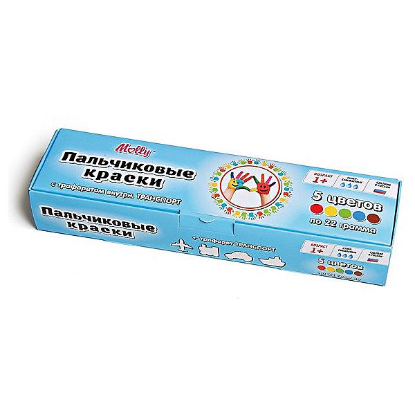 Пальчиковые краски Транспорт с трафаретом, 5 цветовПальчиковые краски<br>Пальчиковые краски Транспорт с трафаретом, 5 цветов.<br><br>Характеристика: <br><br>• Материал: пищевой краситель, целлюлозный загуститель, глицерин, мел, консервант косметический, вода питьевая. <br>• Размер упаковки: 24,5х6,5х4,5 см.<br>• Объем баночки: 22 мл.<br>• Количество цветов: 5 (коричневый, зеленый, синий, красный, желтый).<br>• Комплектация: 5 баночек с краской, тематический трафарет.<br>• Яркие, насыщенные цвета. <br>• Краска легко смывается с одежды и рук. <br>• Безопасна при проглатывании. <br>• Отлично развивает моторику рук, внимание, мышление и воображение. <br>• Оригинальный фигурные штампики. <br><br>Пальчиковые краски - идеальный вариант для самых юных и активных художников! Краски изготовлены их высококачественных нетоксичных материалов абсолютно безопасных для малышей. Яркие цвета и оригинальный тематический трафарет обязательно заинтересуют кроху и подарят множество приятных творческих моментов!<br><br>Рисование - прекрасный вид детского досуга практически в любом возрасте. В процессе художественной деятельности ребенок развивает моторику рук, цветовосприятие, фантазию и усидчивость, получая при этом море положительных эмоций. <br><br>Пальчиковые краски Транспорт с трафаретом, 5 цветов, можно купить в нашем интернет-магазине.<br><br>Ширина мм: 24<br>Глубина мм: 6<br>Высота мм: 4<br>Вес г: 110<br>Возраст от месяцев: 12<br>Возраст до месяцев: 36<br>Пол: Унисекс<br>Возраст: Детский<br>SKU: 5417579