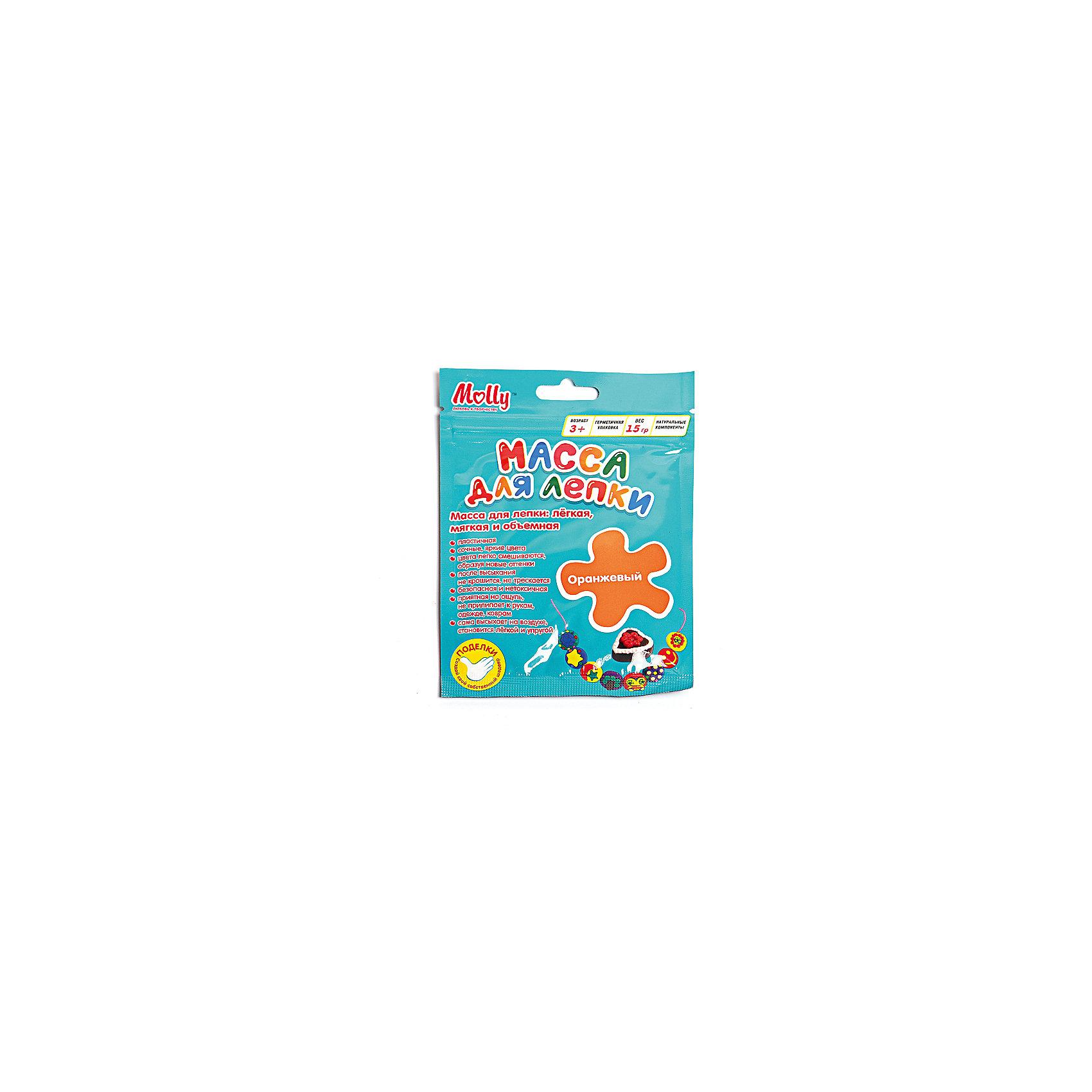 Масса для лепки 15 г, оранжеваяЛепка<br>Характеристики товара:<br><br>• материал упаковки: пластик <br>• в комплект входит: масса для лепки<br>• количество цветов: 1<br>• возраст: от 3 лет<br>• габариты упаковки: 10х0,8х15 см<br>• вес: 15 г<br>• страна производитель: Россия<br><br>Работа с материалами для лепки благотворно влияет на развитие малыша. Лепка развивает тактильные восприятия, работает с мелкой моторикой и творческими способностями. Итог лепки – яркая и необычная игрушка, сделанная своими руками. Материалы, использованные при изготовлении товаров, проходят проверку на качество и соответствие международным требованиям по безопасности.<br><br>Готовые поделки можно высушить на открытом воздухе в течение 12-36 часов без применения обжига. При этом масса не трескается и не крошится. <br><br>Массу для лепки 15 г, оранжевая можно купить в нашем интернет-магазине.<br><br>Ширина мм: 100<br>Глубина мм: 8<br>Высота мм: 150<br>Вес г: 15<br>Возраст от месяцев: 36<br>Возраст до месяцев: 2147483647<br>Пол: Унисекс<br>Возраст: Детский<br>SKU: 5417585