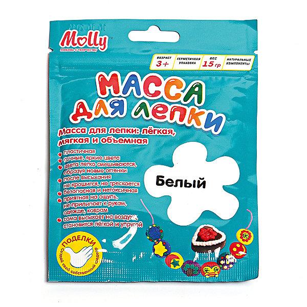 Масса для лепки 15 г, белаяМасса для лепки<br>Характеристики товара:<br><br>• материал упаковки: пластик <br>• в комплект входит: масса для лепки<br>• количество цветов: 1<br>• возраст: от 3 лет<br>• габариты упаковки: 10х0,8х15 см<br>• вес: 15 г<br>• страна производитель: Россия<br><br>Работа с материалами для лепки благотворно влияет на развитие малыша. Лепка развивает тактильные восприятия, работает с мелкой моторикой и творческими способностями. Итог лепки – яркая и необычная игрушка, сделанная своими руками. Материалы, использованные при изготовлении товаров, проходят проверку на качество и соответствие международным требованиям по безопасности.<br><br>Готовые поделки можно высушить на открытом воздухе в течение 12-36 часов без применения обжига. При этом масса не трескается и не крошится. <br><br>Массу для лепки 15 г, белая можно купить в нашем интернет-магазине.<br><br>Ширина мм: 100<br>Глубина мм: 8<br>Высота мм: 150<br>Вес г: 15<br>Возраст от месяцев: 36<br>Возраст до месяцев: 2147483647<br>Пол: Унисекс<br>Возраст: Детский<br>SKU: 5417589