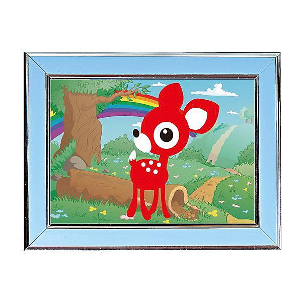 Мозаичная картина ОленёнокМозаика детская<br>Мозаичная картина Оленёнок.<br><br>Характеристика: <br><br>• Материал: картон, пластик, клей. <br>• Размер картинки: 17х21 см. <br>• Размер мозаичного элемента: 2,5 мм. <br>• Комплектация: контейнер для элементов мозаики, мозаичные элементы, специальный клеевой карандаш, трафарет со схемой рисунка, декоративная пластиковая рамка с оргстеклом. <br>• Яркие, насыщенные цвета. <br>• Отлично развивает моторику рук, внимание, мышление и воображение. <br><br>Создание картины из мозаики - увлекательное и полезное занятие, в процессе которого ребенок сможет развить моторику рук, внимание, усидчивость, цветовосприятие и воображение. В этом наборе уже есть все для создания маленького шедевра! Нужно лишь приклеить мозаичные элементы на основу с нанесенным контуром - и яркая картинка готова.<br><br>Мозаичную картину Оленёнок можно купить в нашем магазине.<br><br>Ширина мм: 200<br>Глубина мм: 225<br>Высота мм: 30<br>Вес г: 250<br>Возраст от месяцев: 84<br>Возраст до месяцев: 144<br>Пол: Унисекс<br>Возраст: Детский<br>SKU: 5417610