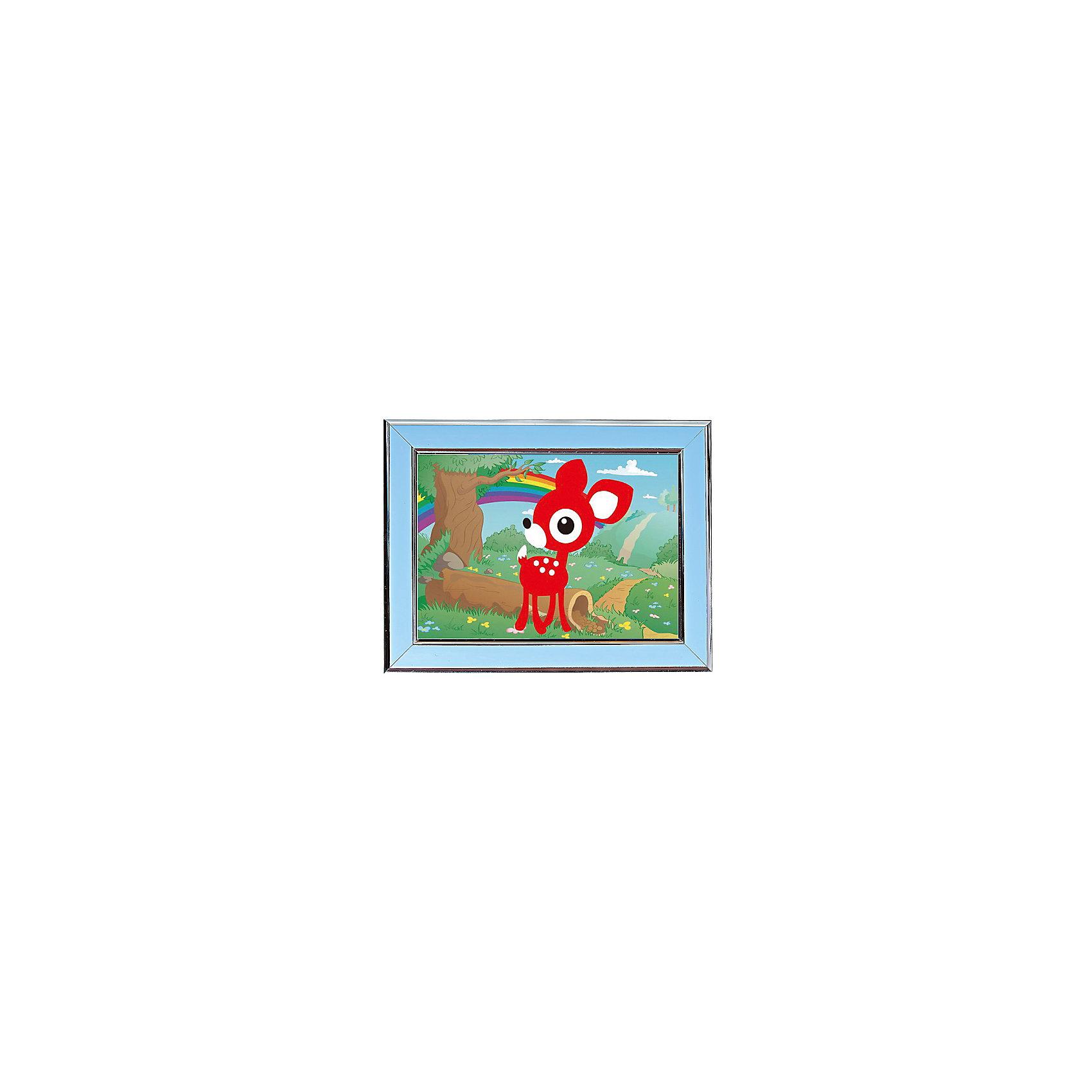 Мозаичная картина ОленёнокМозаика<br>Мозаичная картина Оленёнок.<br><br>Характеристика: <br><br>• Материал: картон, пластик, клей. <br>• Размер картинки: 17х21 см. <br>• Размер мозаичного элемента: 2,5 мм. <br>• Комплектация: контейнер для элементов мозаики, мозаичные элементы, специальный клеевой карандаш, трафарет со схемой рисунка, декоративная пластиковая рамка с оргстеклом. <br>• Яркие, насыщенные цвета. <br>• Отлично развивает моторику рук, внимание, мышление и воображение. <br><br>Создание картины из мозаики - увлекательное и полезное занятие, в процессе которого ребенок сможет развить моторику рук, внимание, усидчивость, цветовосприятие и воображение. В этом наборе уже есть все для создания маленького шедевра! Нужно лишь приклеить мозаичные элементы на основу с нанесенным контуром - и яркая картинка готова.<br><br>Мозаичную картину Оленёнок можно купить в нашем магазине.<br><br>Ширина мм: 200<br>Глубина мм: 225<br>Высота мм: 30<br>Вес г: 250<br>Возраст от месяцев: 84<br>Возраст до месяцев: 144<br>Пол: Унисекс<br>Возраст: Детский<br>SKU: 5417610